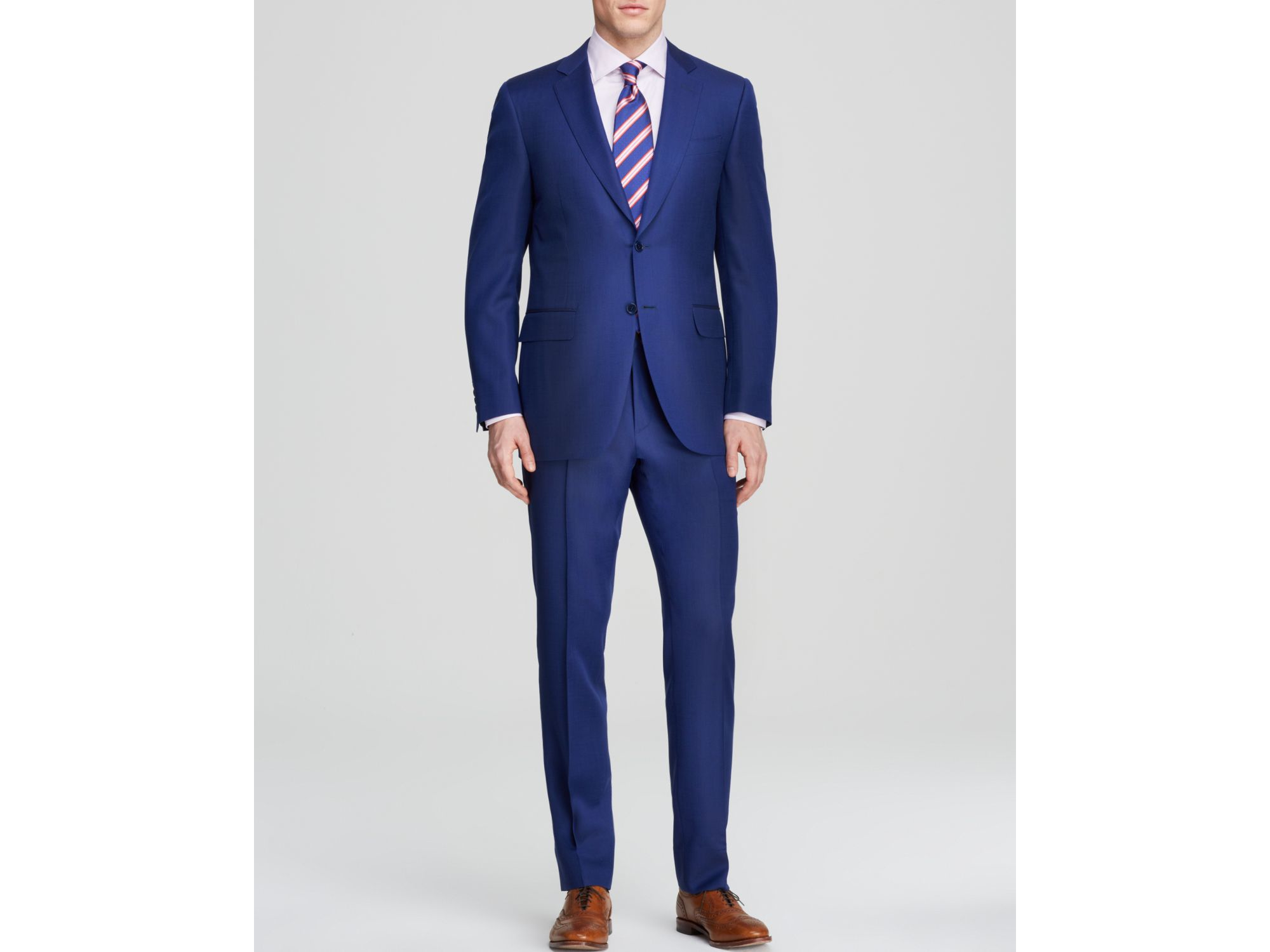 Canali Micro Birdseye Firenze Suit - Classic Fit in Blue for Men ...