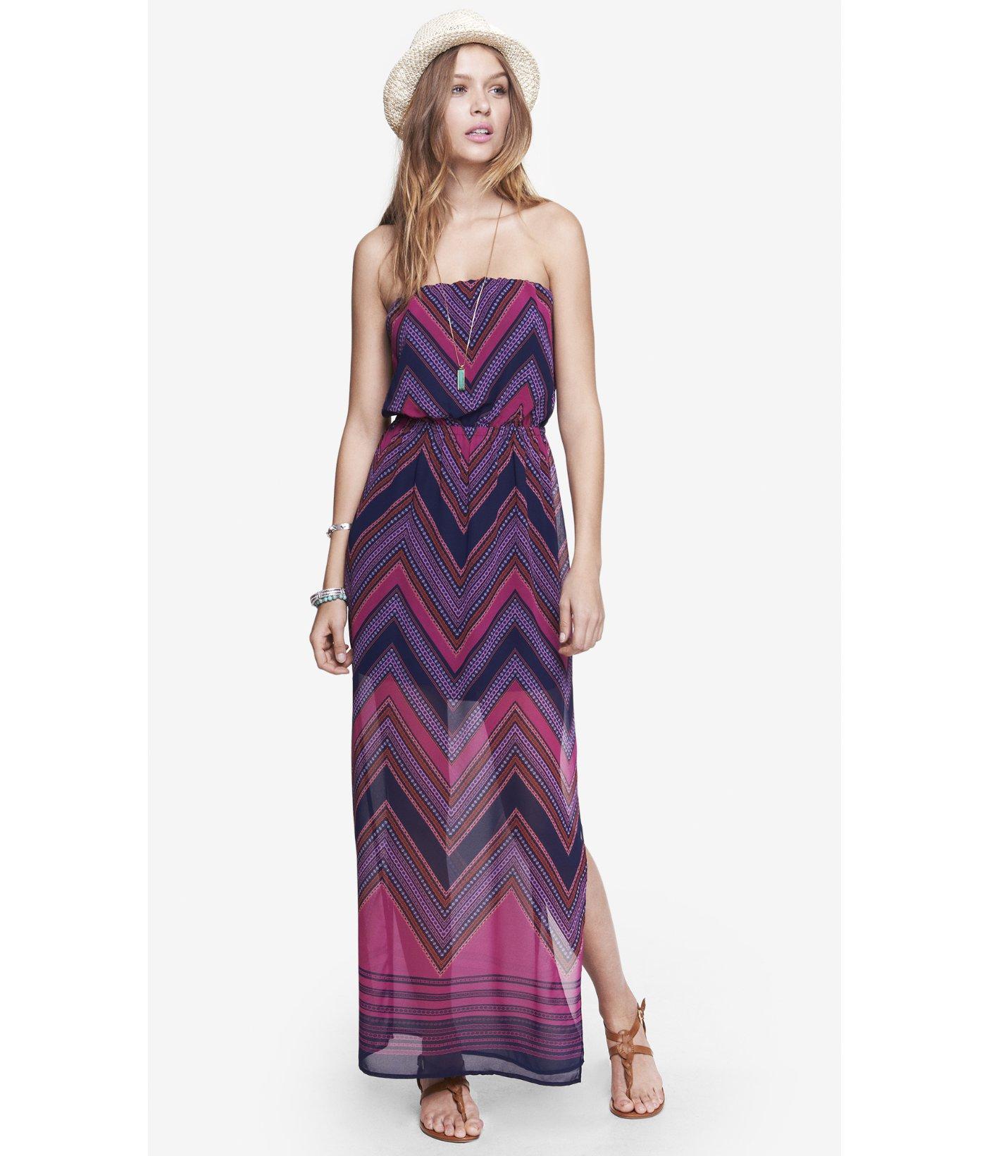 Lyst - Express Purple Scarf Print Maxi Dress