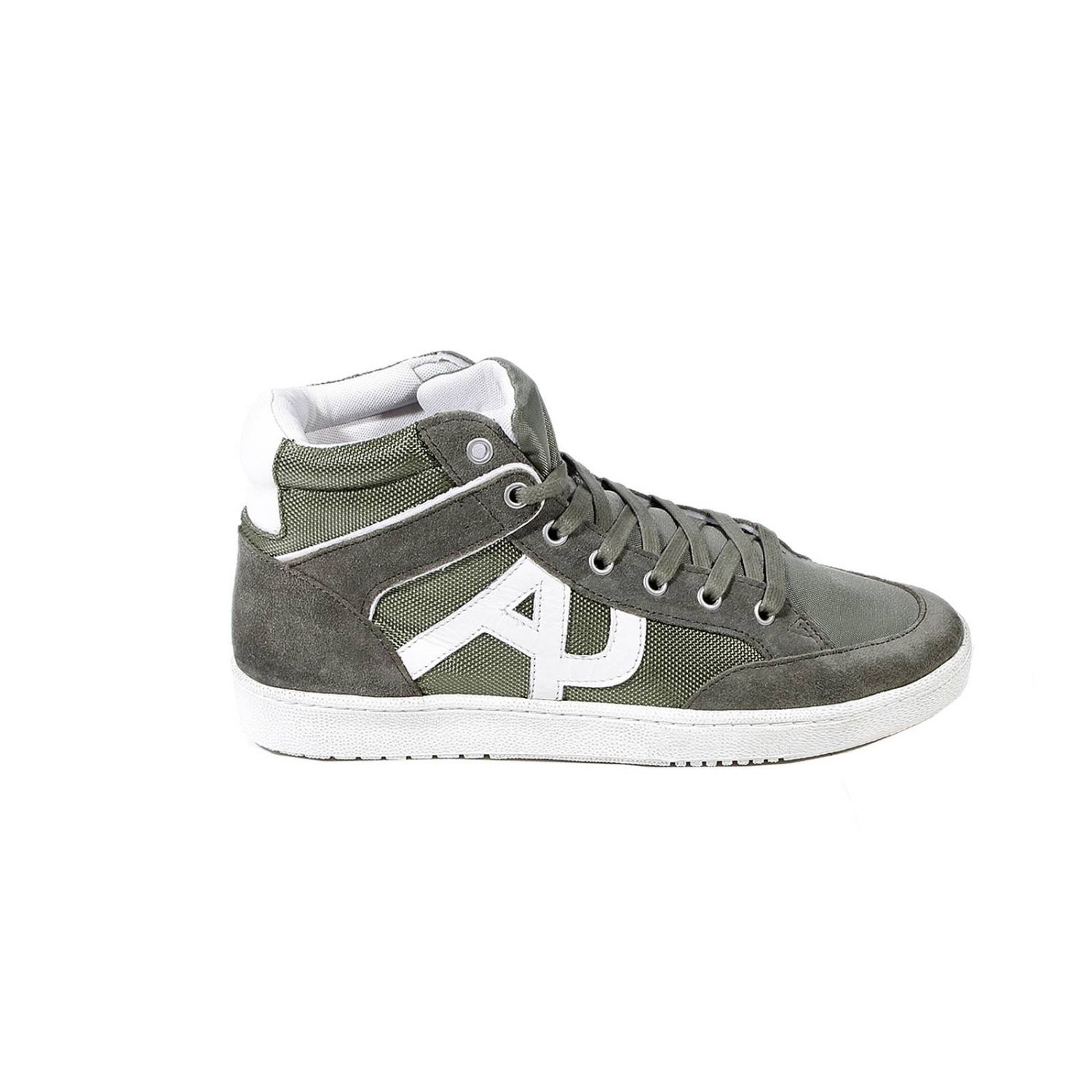 armani shoes sneaker boot suede and canvas in green