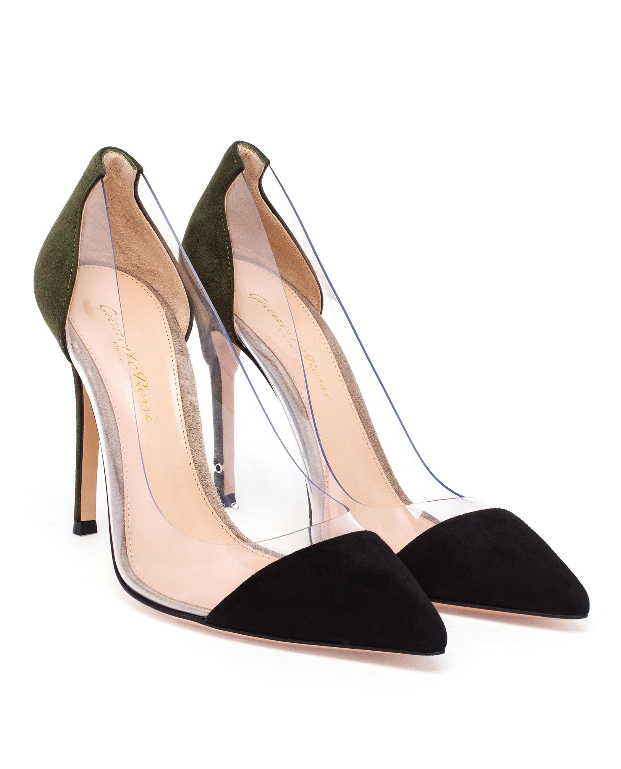 clear strap pointed pumps - Black Gianvito Rossi