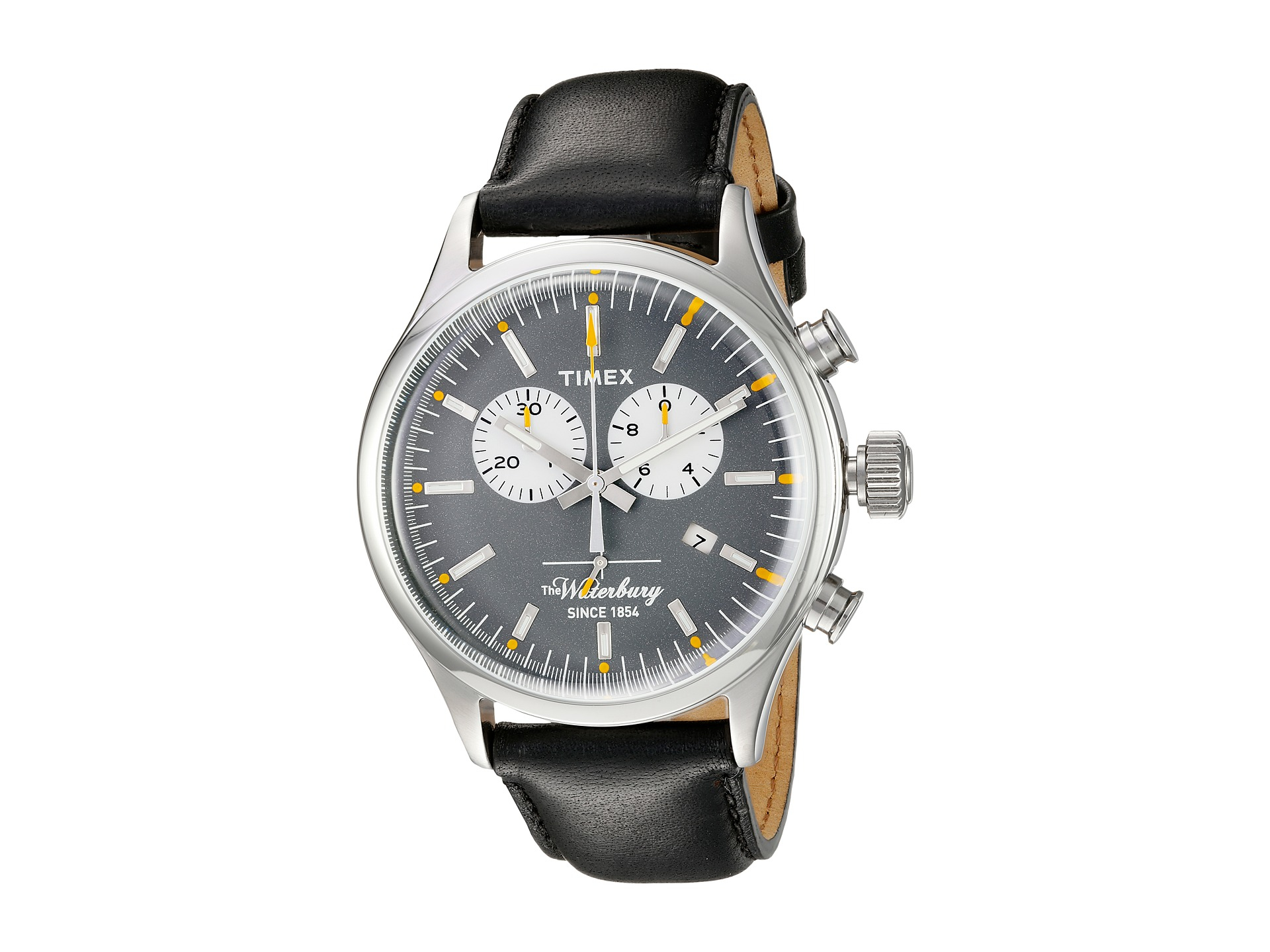 Timex The Waterbury Chronograph In Black For Men