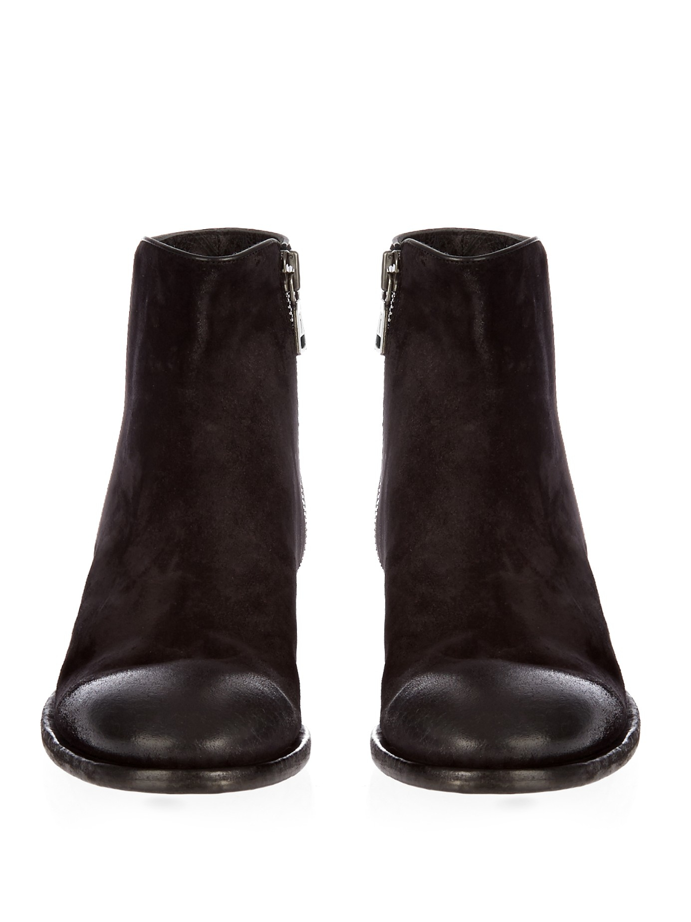 varvatos keith waxed suede boots in black for lyst