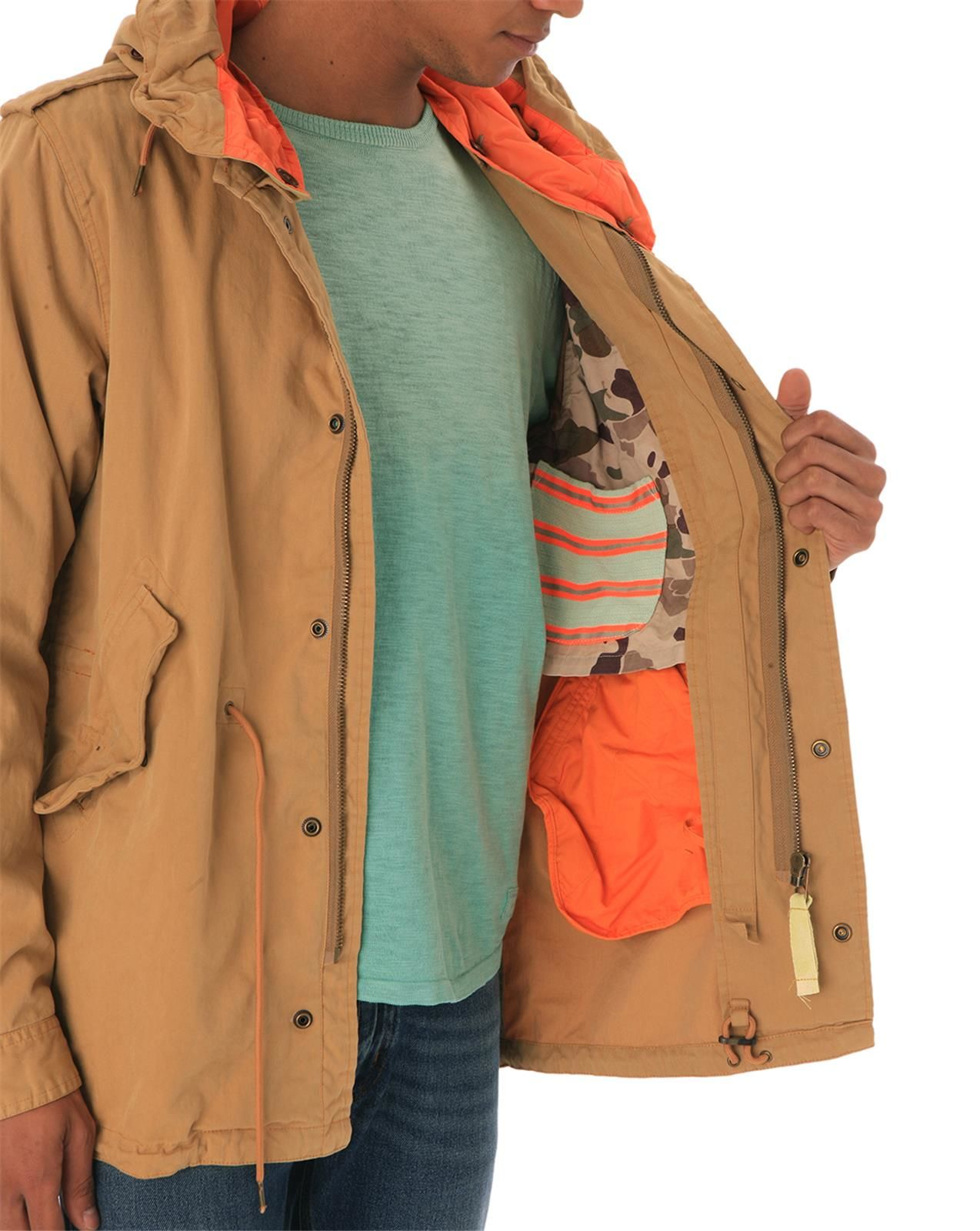 scotch soda fishtail sand parka in brown for men lyst. Black Bedroom Furniture Sets. Home Design Ideas