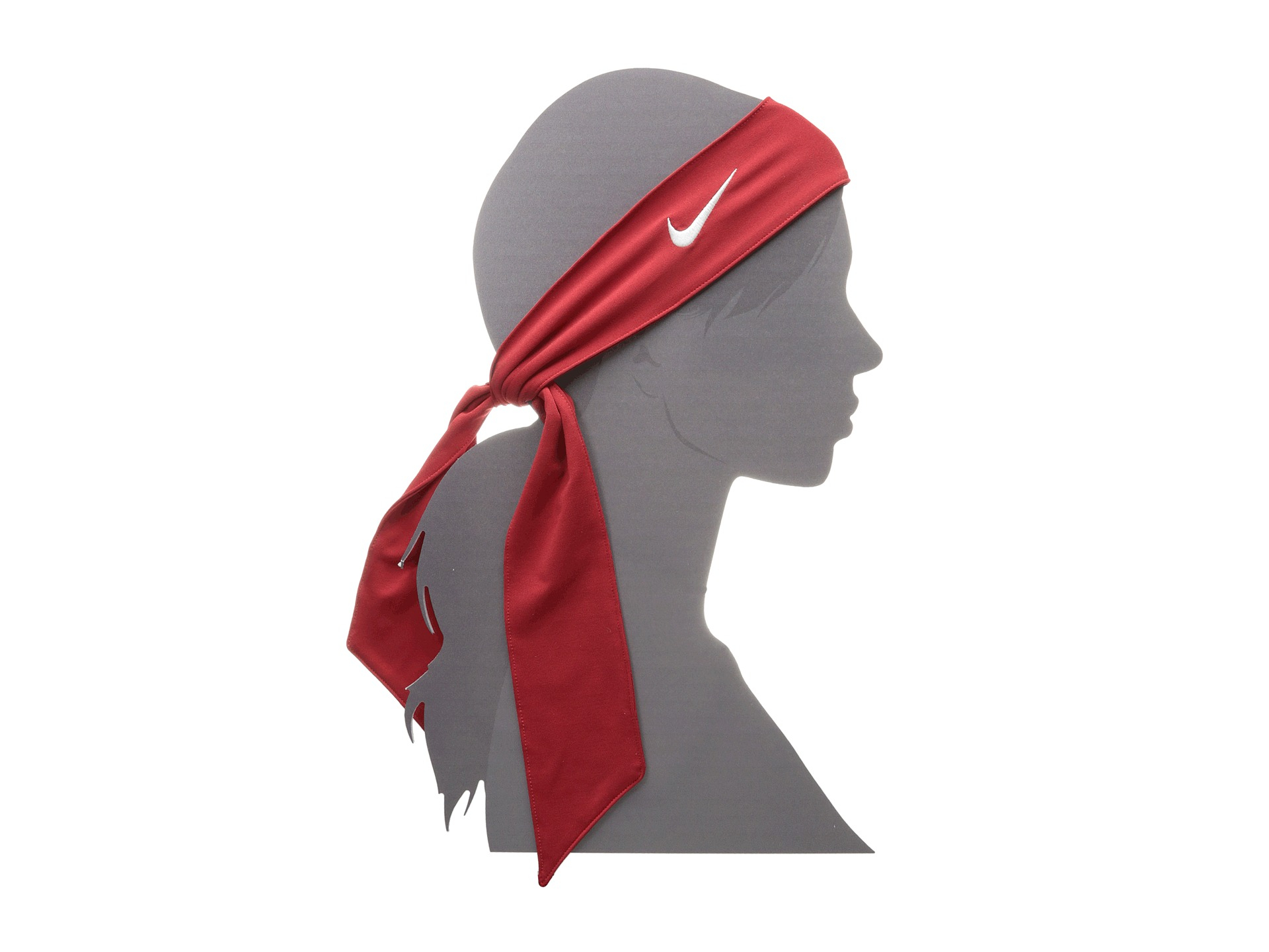 Lyst - Nike Dri-Fit Head Tie 2.0 in Red f0cfd34107f