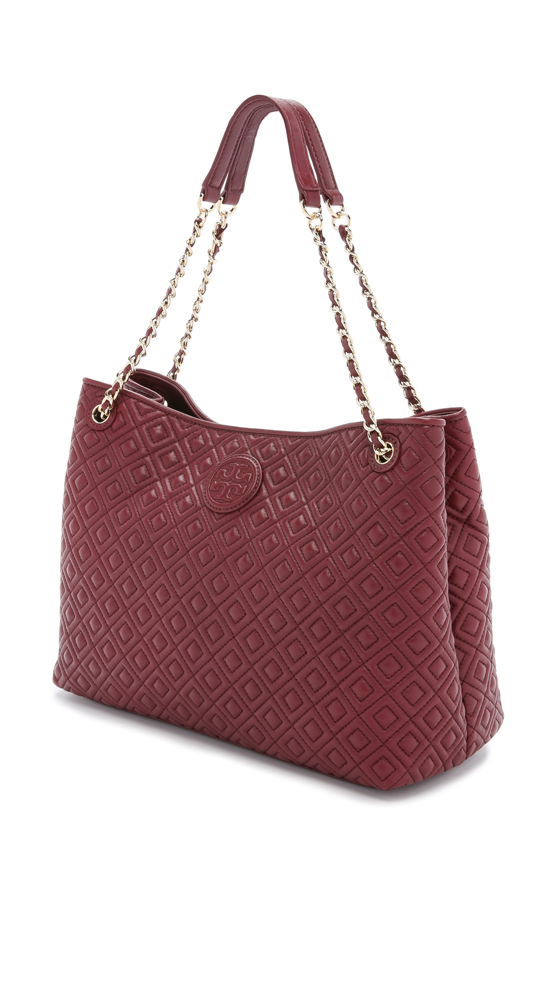 9ade41bdf7657 ... denmark lyst tory burch marion quilted shoulder bag red agate in red  09ce2 fcd69