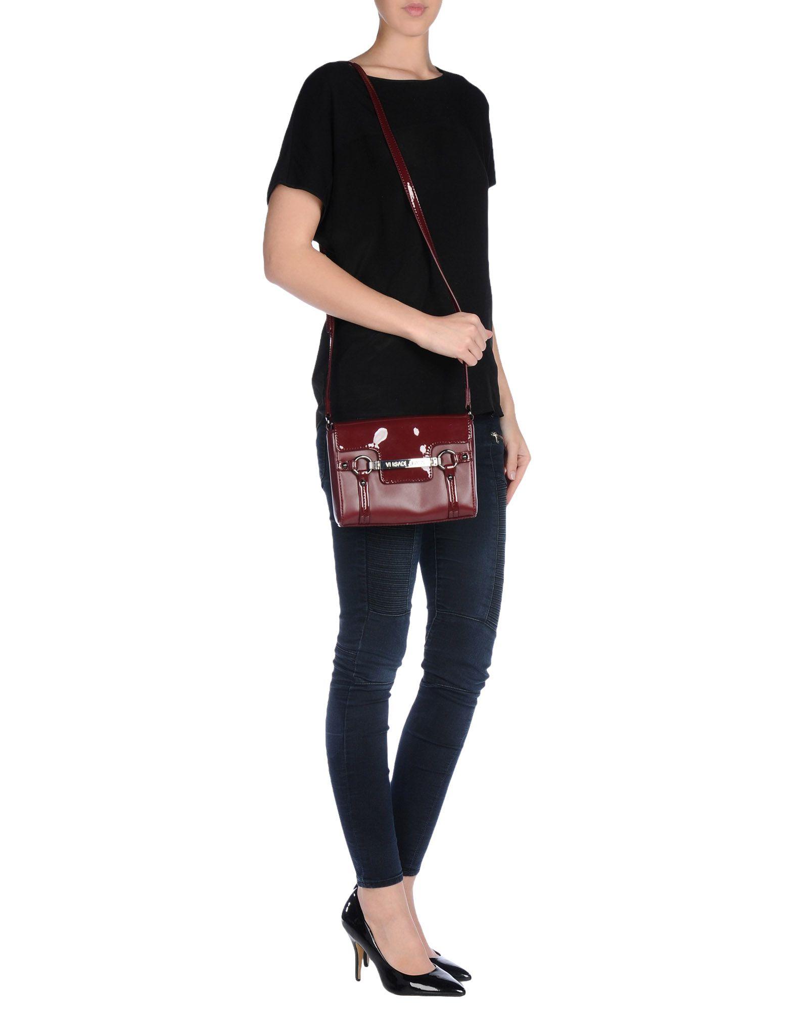 Versace Jeans Cross Body Bag In Purple Lyst