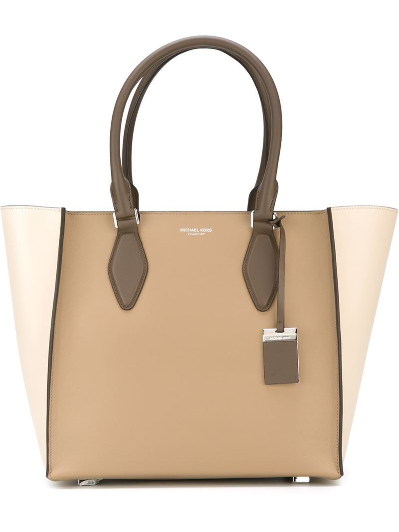 5eb300105ab828 Michael Kors 'gracie' Tote in Brown - Lyst