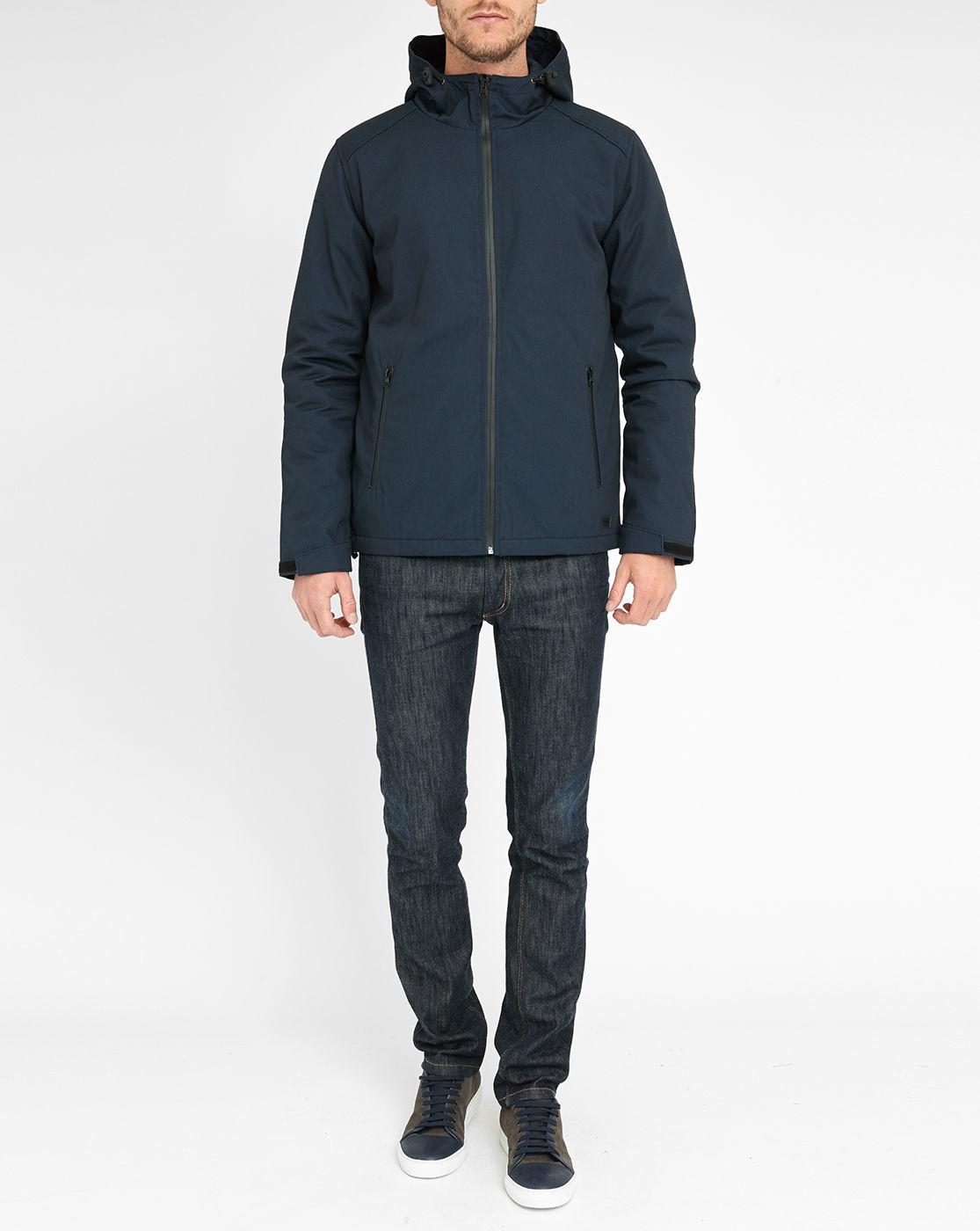 minimum navy bronx hooded jacket in blue for men lyst. Black Bedroom Furniture Sets. Home Design Ideas