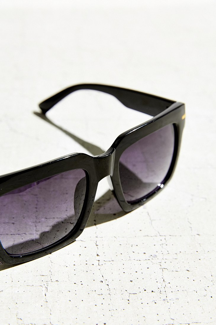 Oversized Flat Top Sunglasses  urban outers chunky oversized flat top sunglasses in black lyst