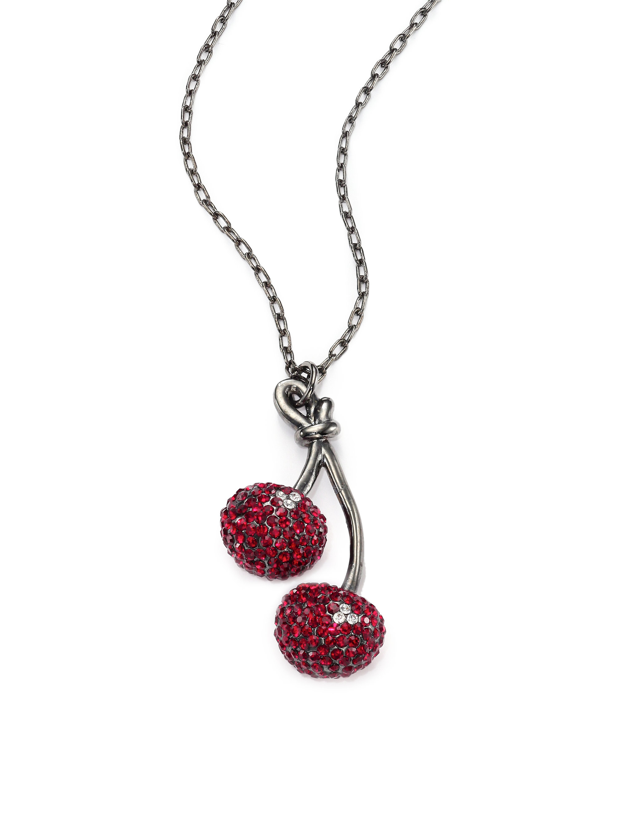 lampwork pin beaded red pendant glass necklace black
