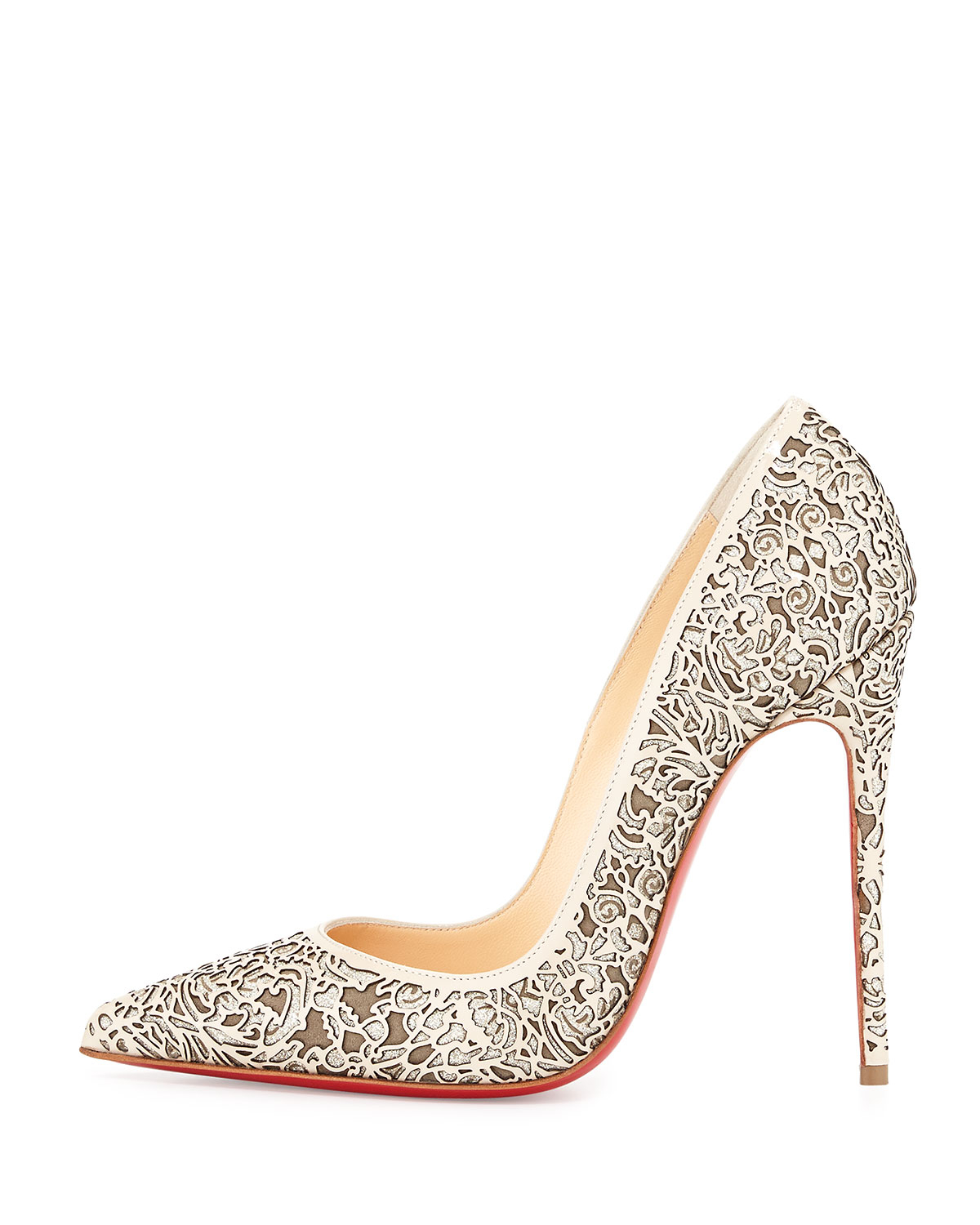 ca06a1a14f1e ... netherlands christian louboutin so pretty laser cut pumps in red lyst  546d5 fe480