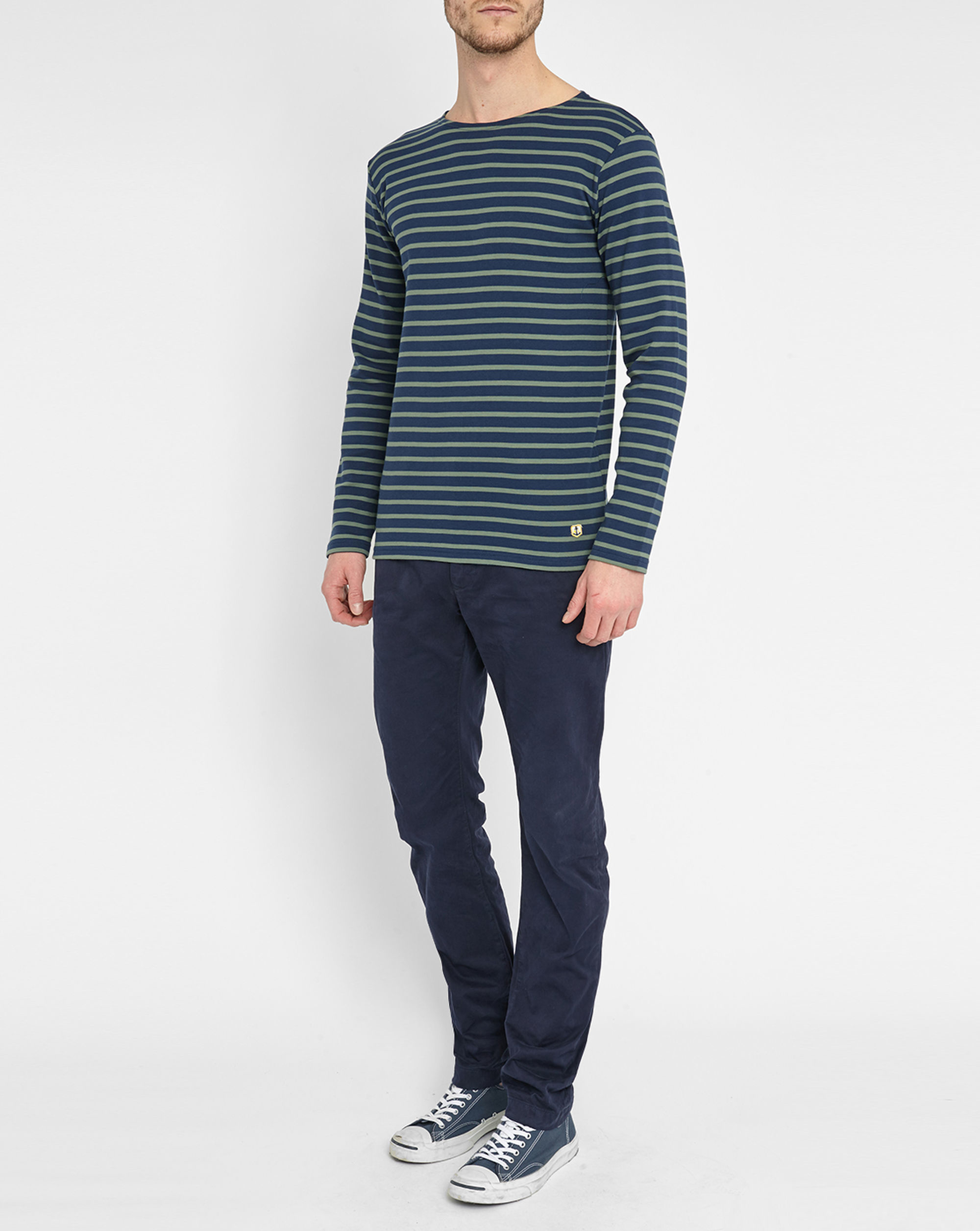 Armor lux Navy/green Classic Sailor Stripe Top in Blue for ...