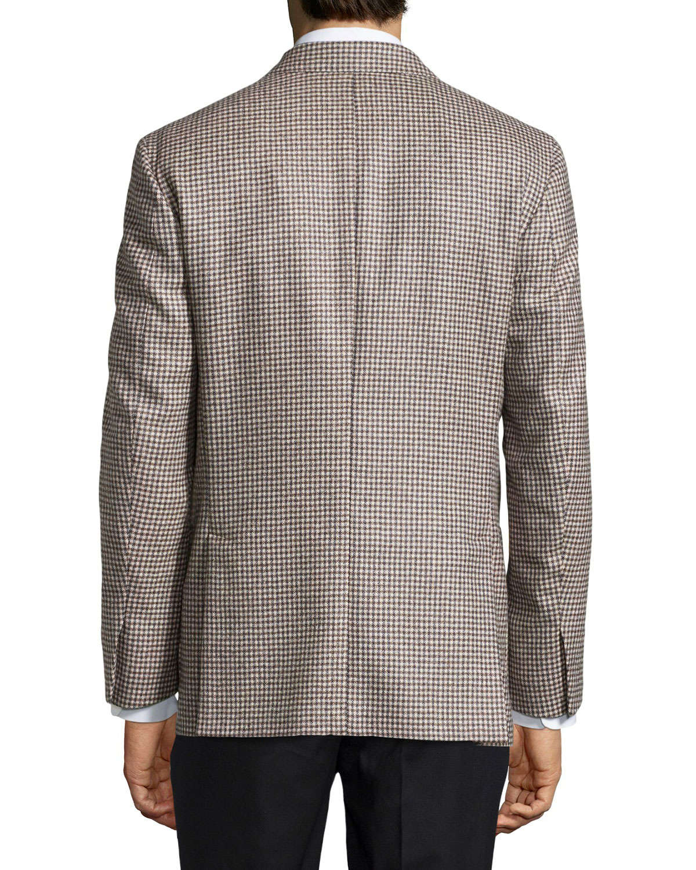 Ike behar Houndstooth Sport Coat in Brown | Lyst