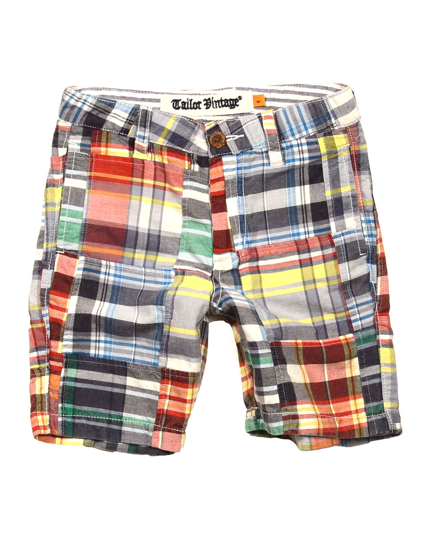 Tailor vintage Madras Plaid Patch Shorts for Men | Lyst
