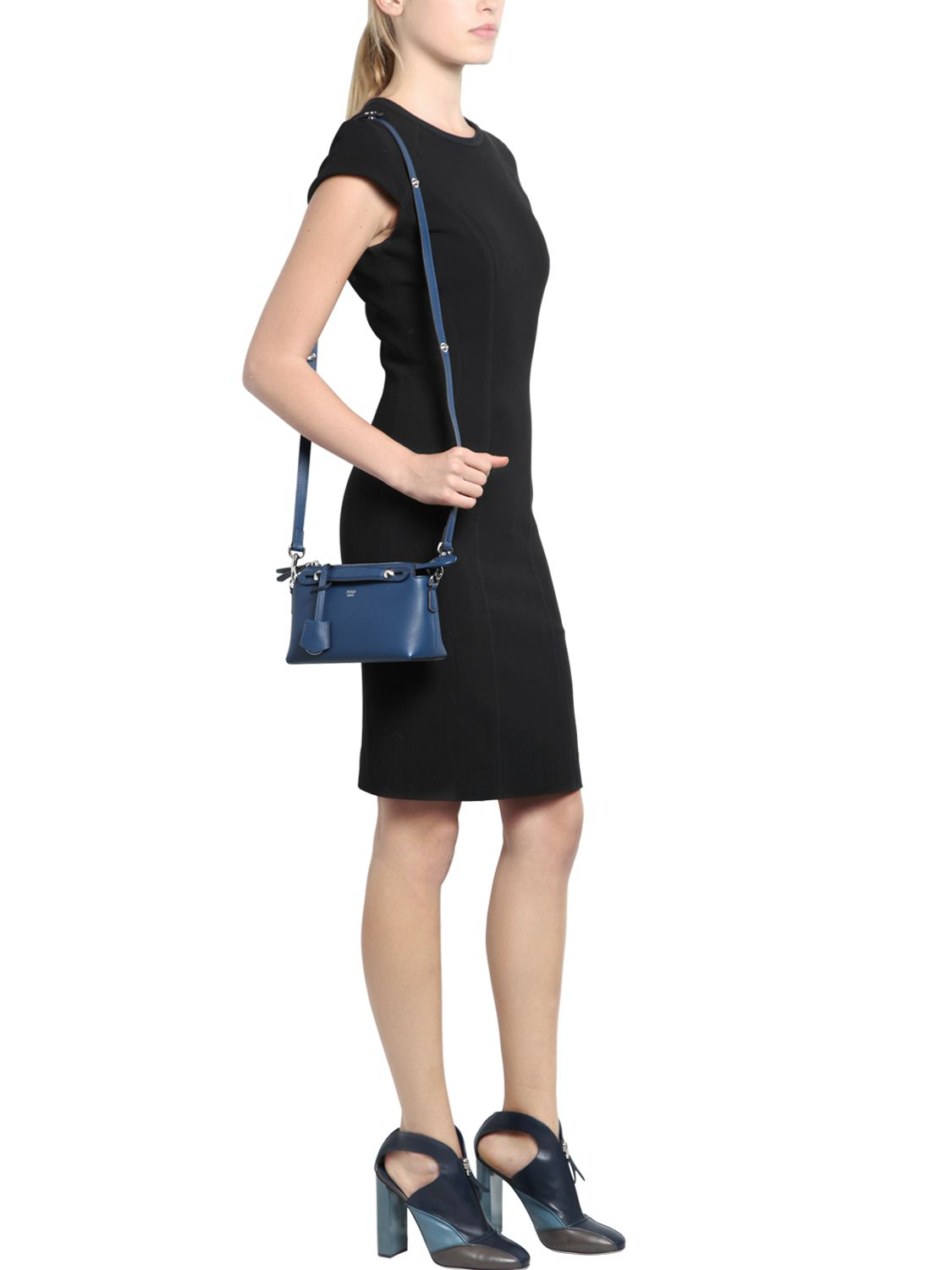 a6e4aec3dc46 ... promo code c35c1 39678 Fendi Mini by The Way Crossbody Bag in Blue -  Lyst ...