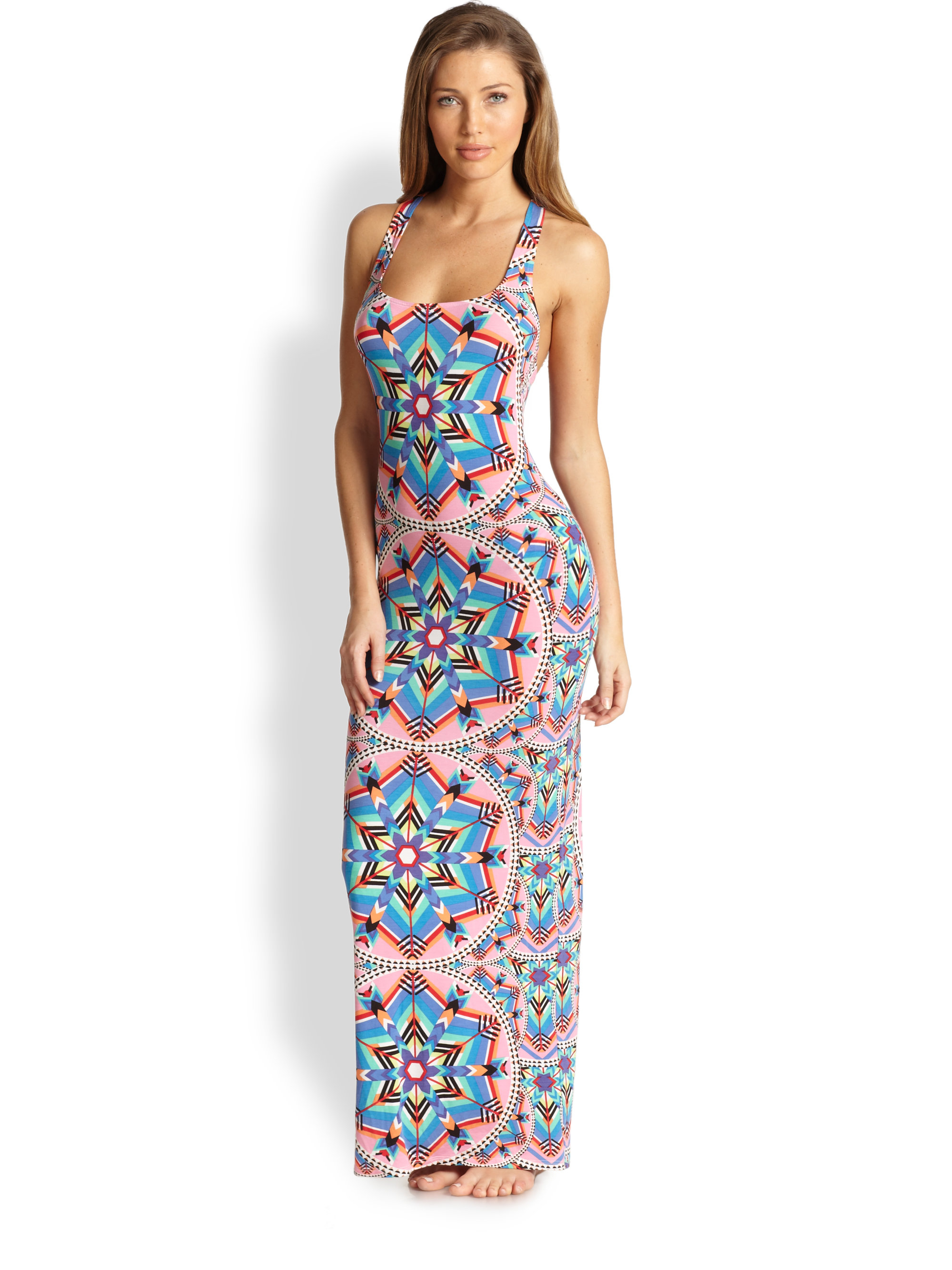 Mara hoffman Kites Racerback Maxi Dress in Blue | Lyst