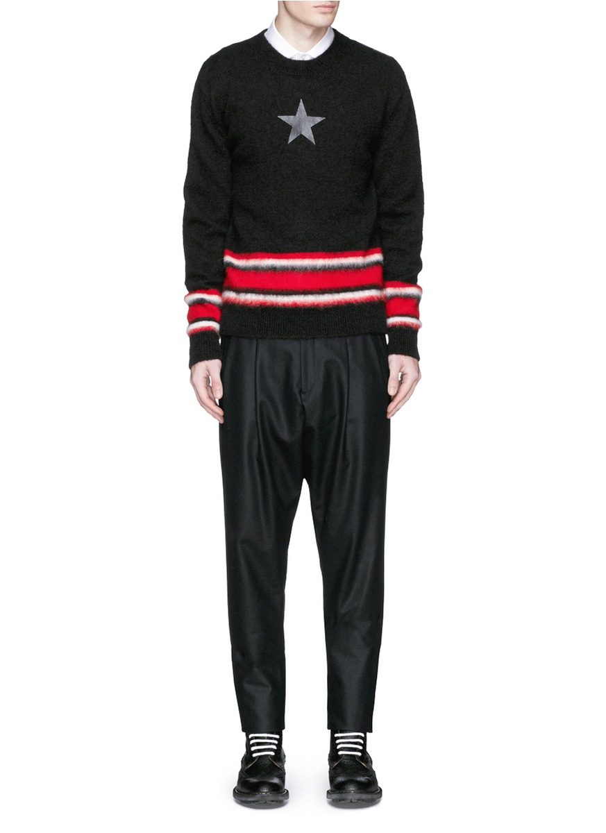 givenchy star print mohair sweater in black for men lyst. Black Bedroom Furniture Sets. Home Design Ideas
