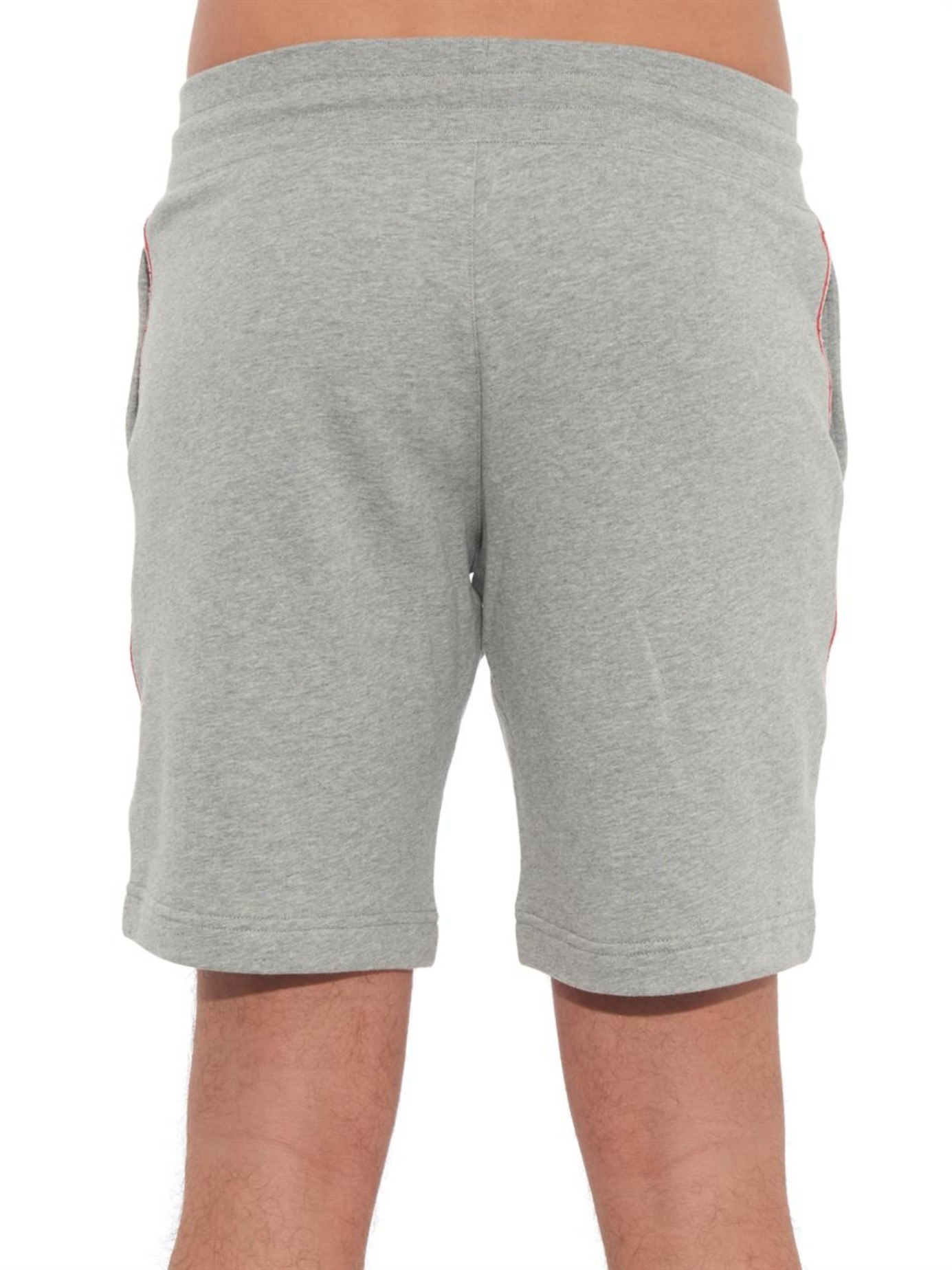 affeff49ffa6 Lyst - Moncler Side-Stripe Jersey Track Shorts in Gray for Men