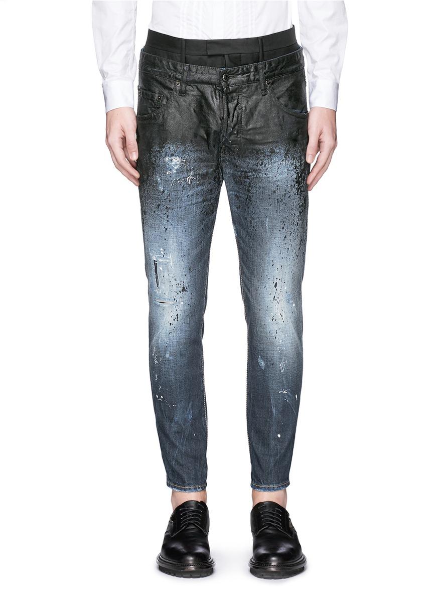 Black Paint Splatter Jeans