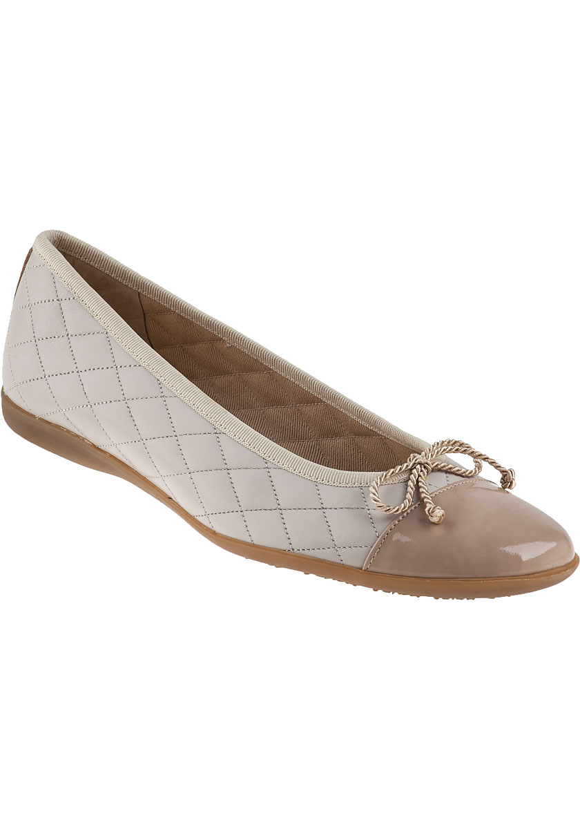 French Sole Passport Ballet Flat Light Taupe Leather In