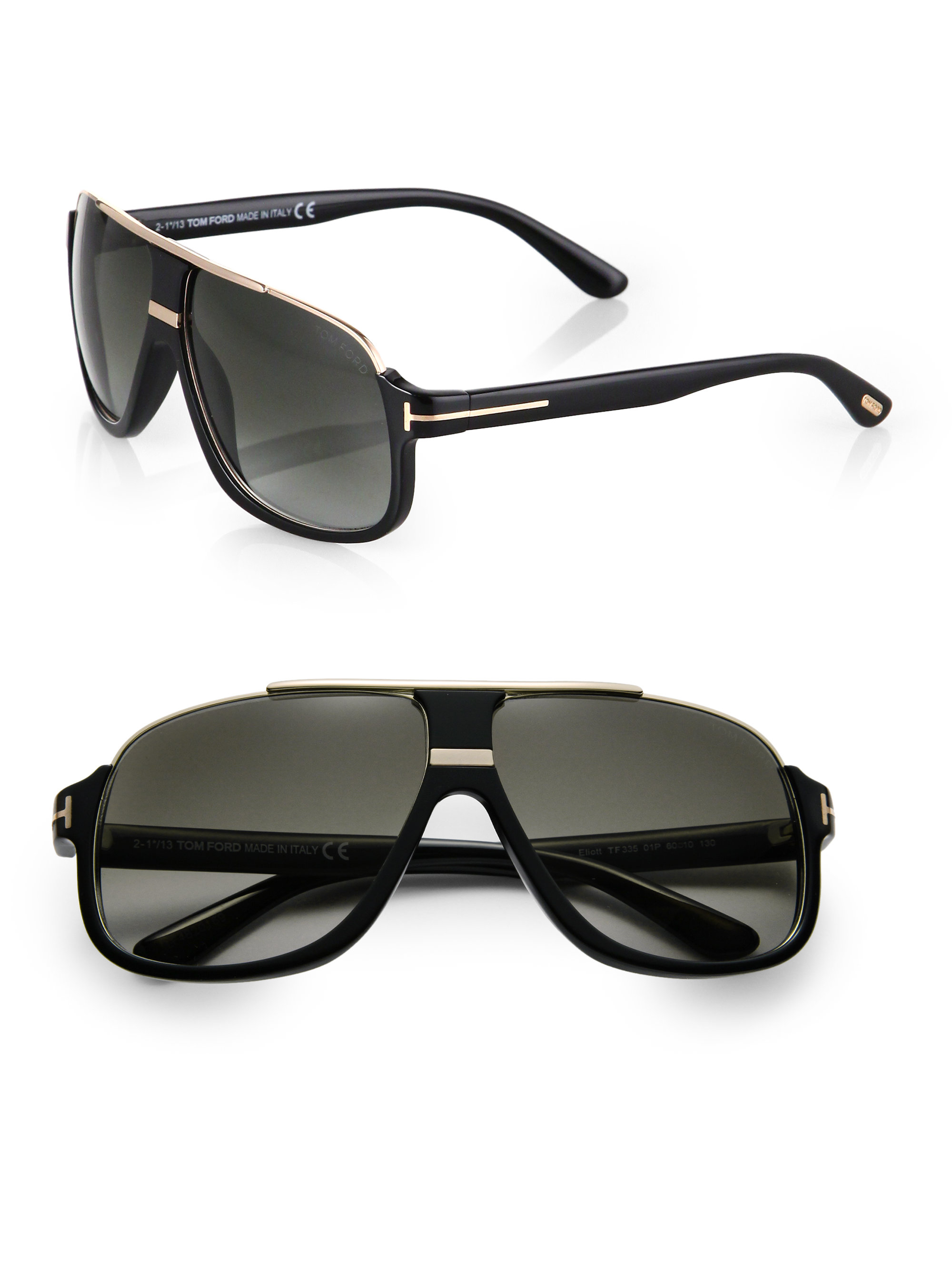 a46750f7adfc5 Tom Ford Eliot Sunglasses in Black for Men - Lyst