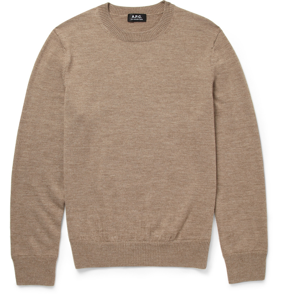 A.P.C. round neck sweater Outlet Footaction 4gpcbqe