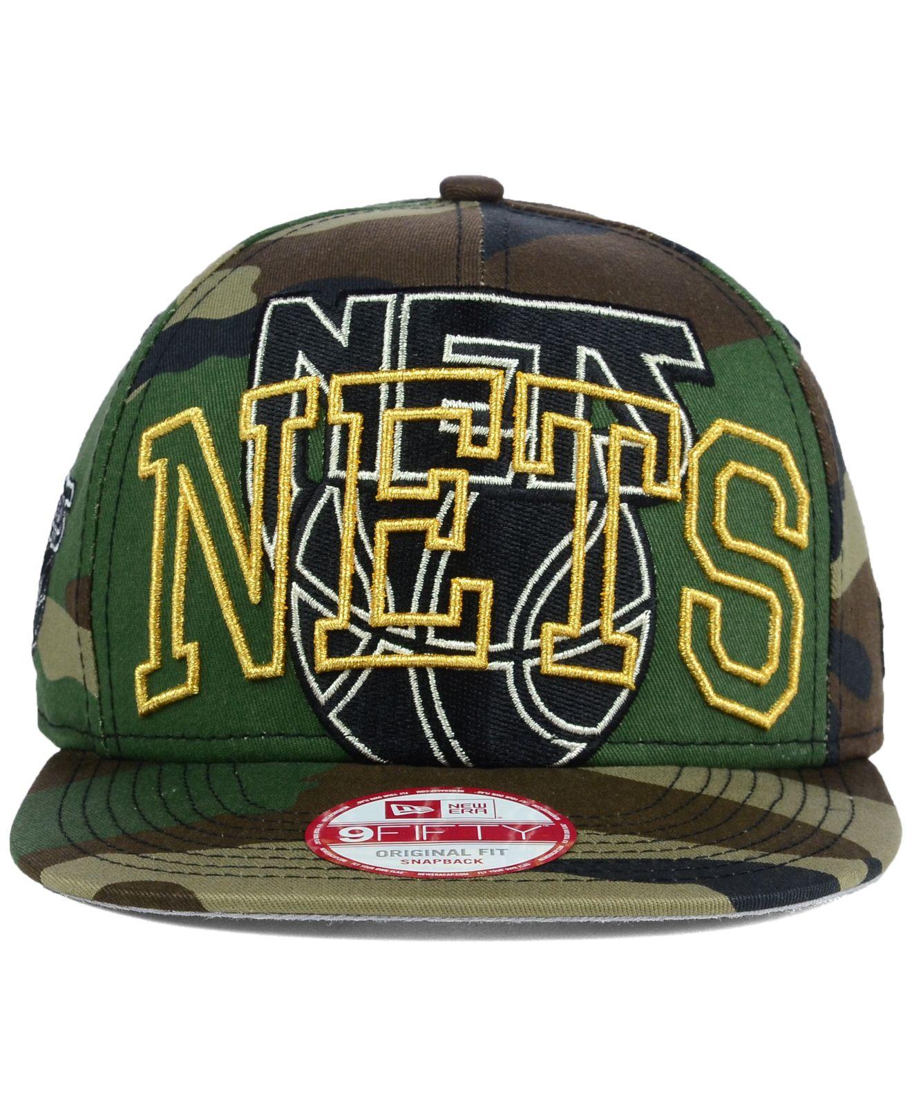 promo code 3dc3f 82c8c Lyst - KTZ New Jersey Nets Metallic Cue Original Fit 9fifty Snapback ...