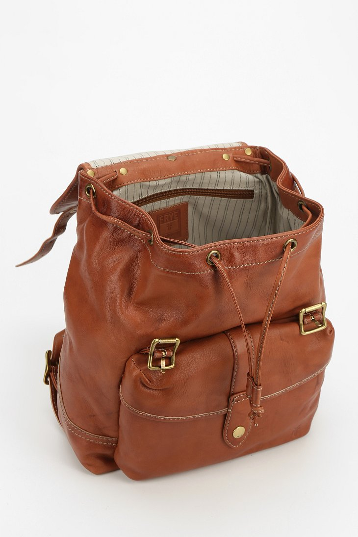 Urban outfitters Frye Leather Campus Backpack in Brown | Lyst
