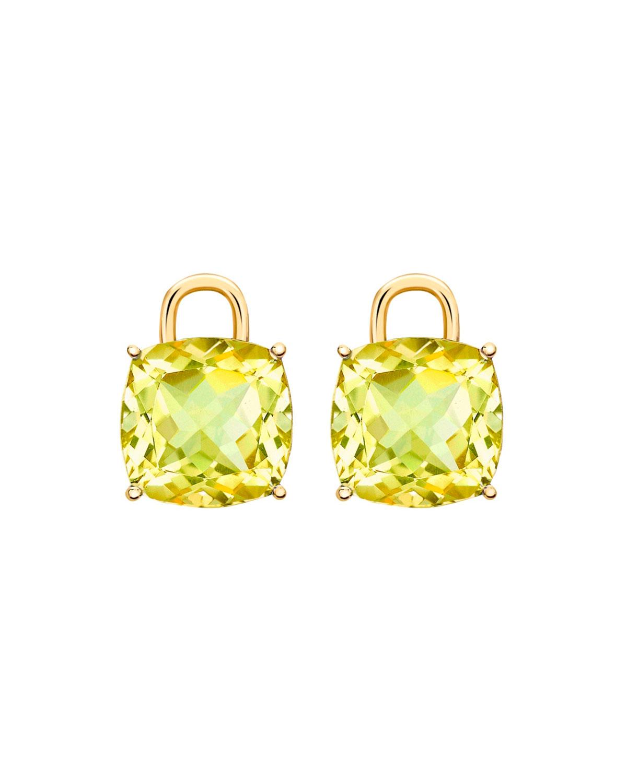 Kiki Mcdonough Eternal 18k Gold Lemon Quartz Earring