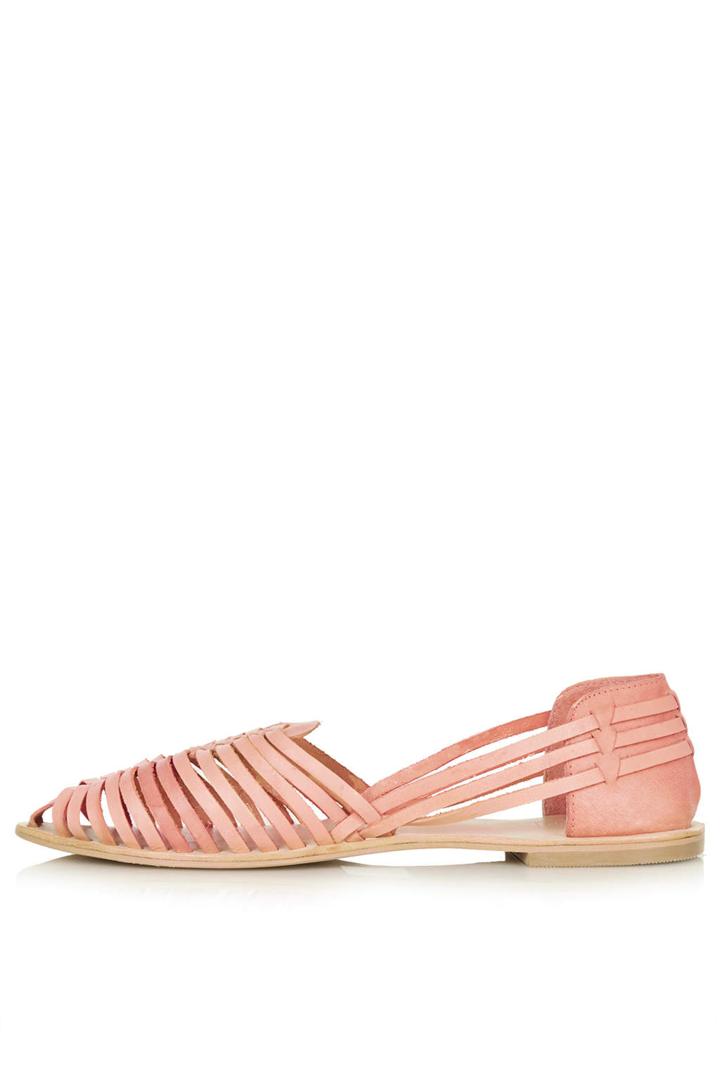 topshop hurrache slip on shoes in pink lyst