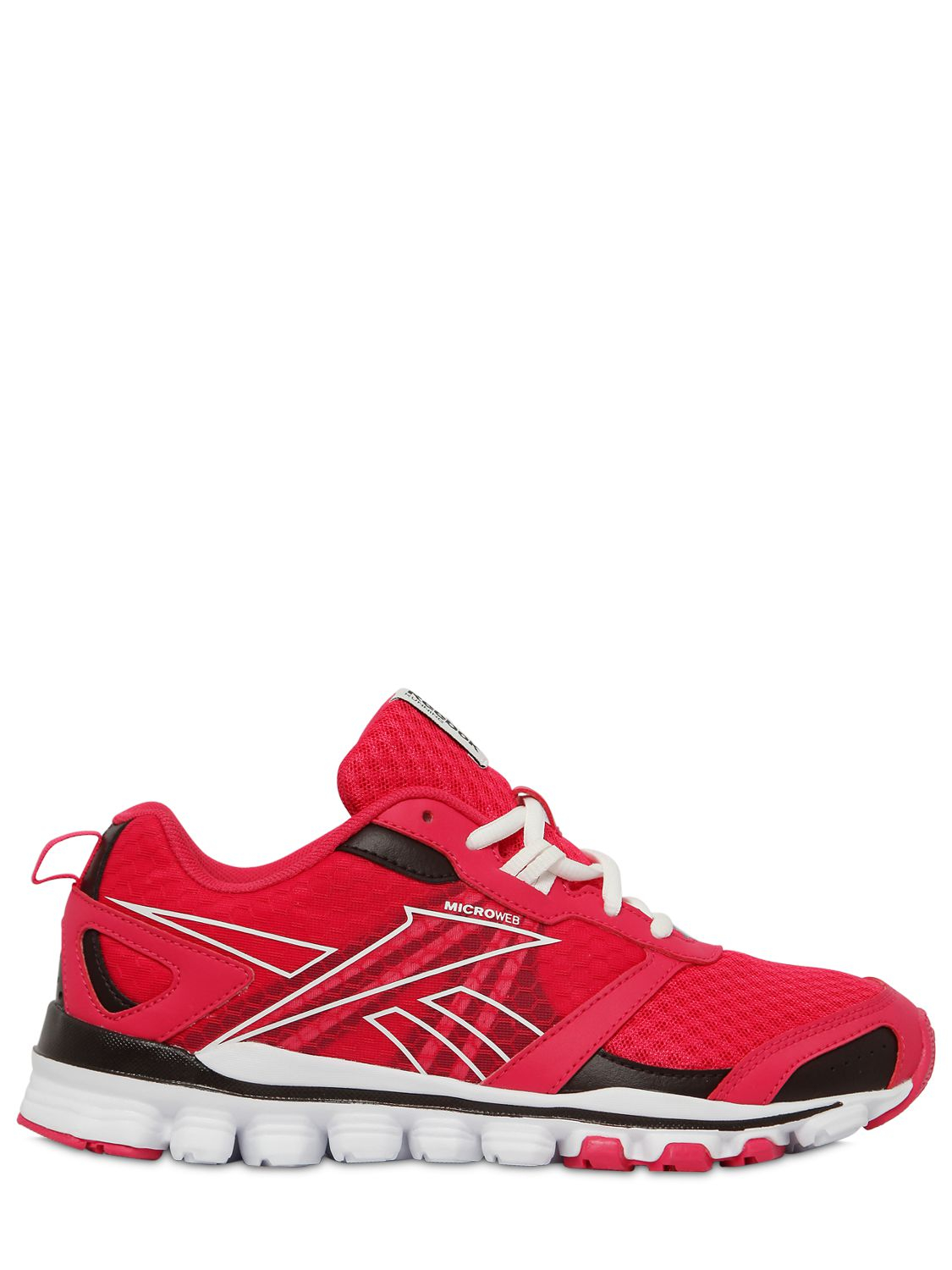 reebok hexaffect running shoe in pink for lyst