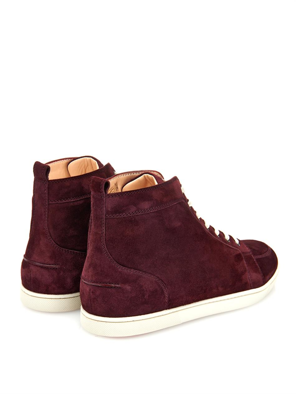 new style 3ffc0 0b8c1 Artesur » christian louboutin suede mid-top suede sneakers