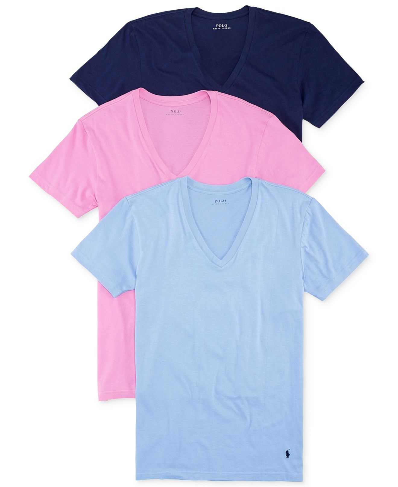 Polo Ralph Lauren V Neck T Shirt 3 Pack For Men Lyst