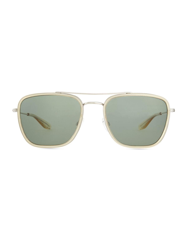 square aviator sunglasses  Barton perreira Collins Square Aviator Sunglasses in Metallic