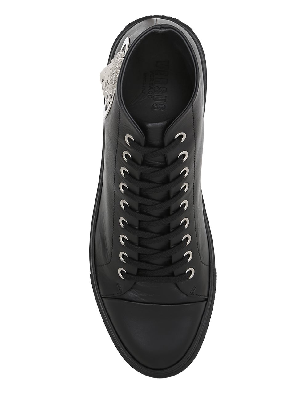 Versus Lion Head Leather High Top Sneakers in Black for ...