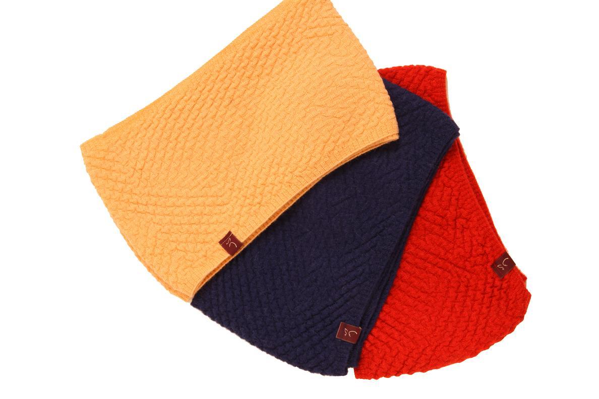 Basket Weaving London : Plum of london alpaca basket weave cowl blue in lyst