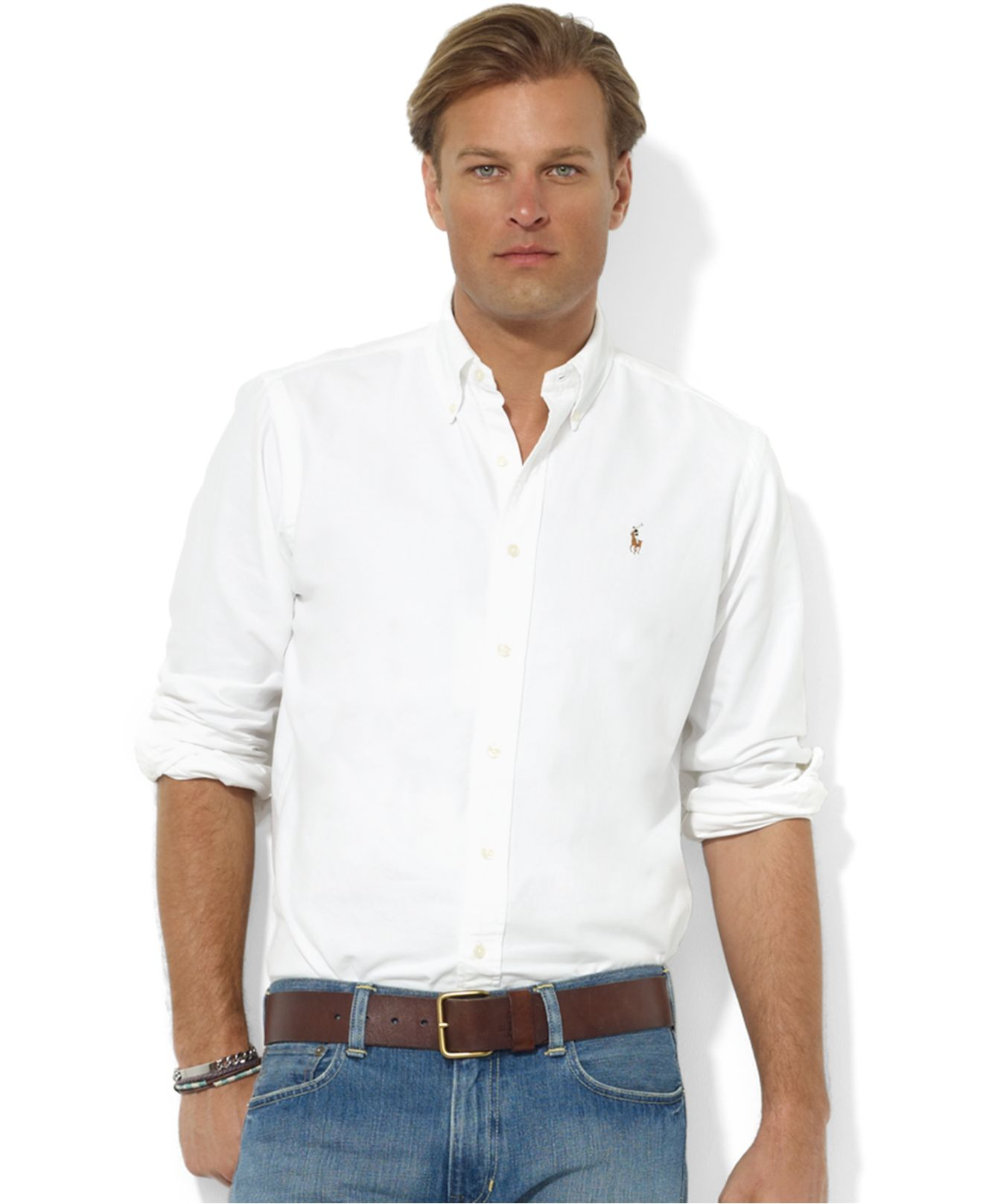 Polo ralph lauren Core Classic Fit Oxford Shirt in White for Men ...