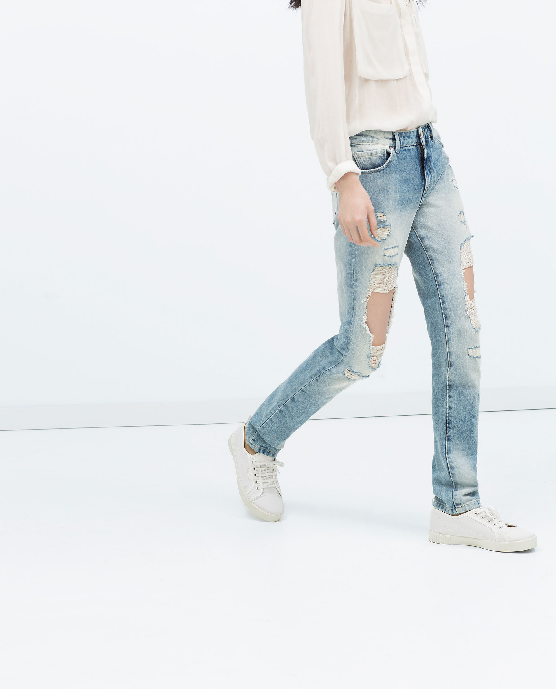 Original Zara High Waist Skinny Jeans In Gray  Lyst