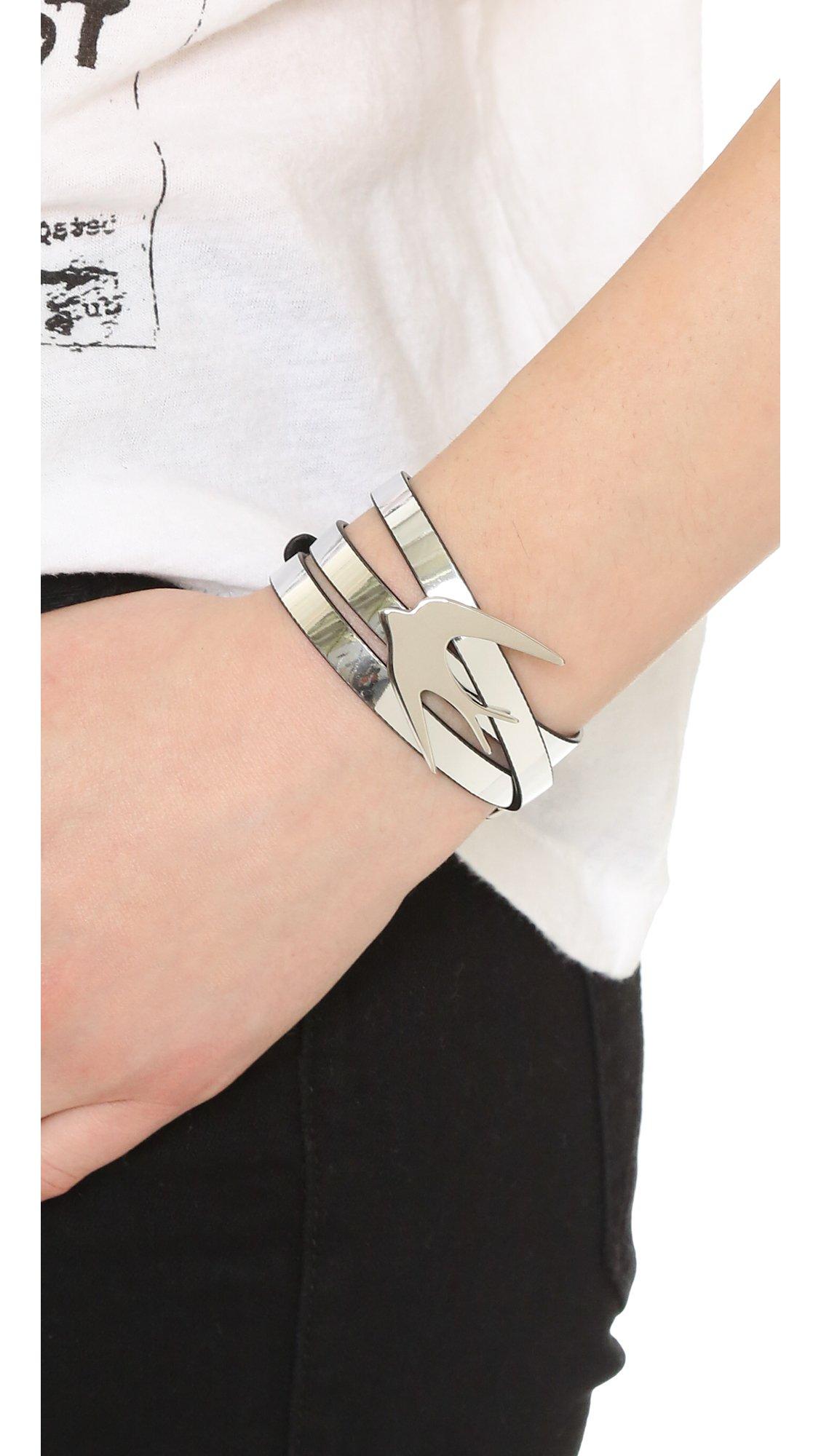 Alexander McQueen Bullets Metallic Wrap Bracelet Rose Gold xmNFx7x
