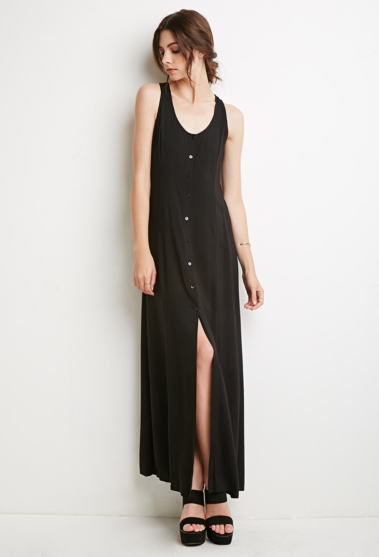 Lyst Forever 21 Strappy Button Down Maxi Dress You Ve