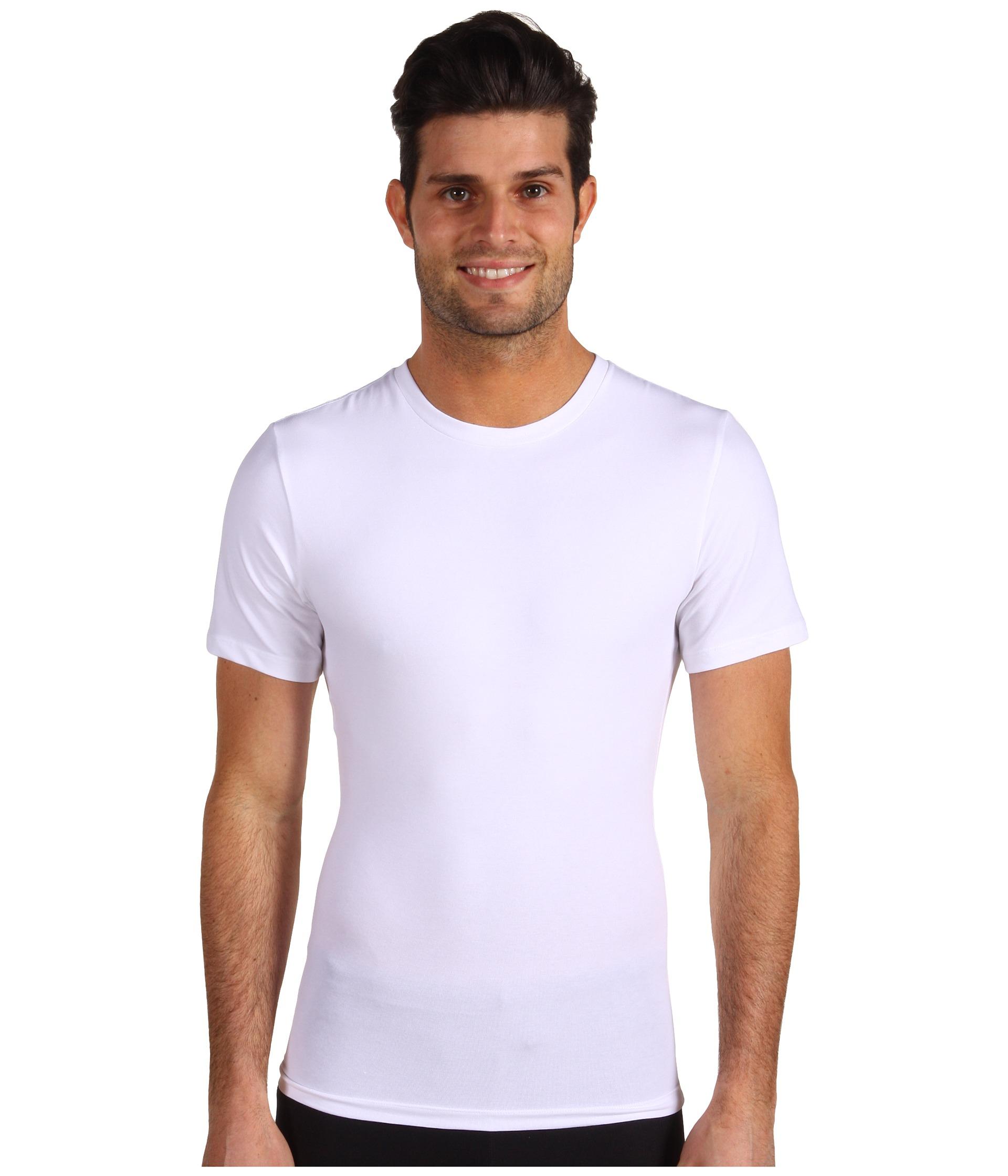 Lyst Spanx Cotton Control Crew In White For Men