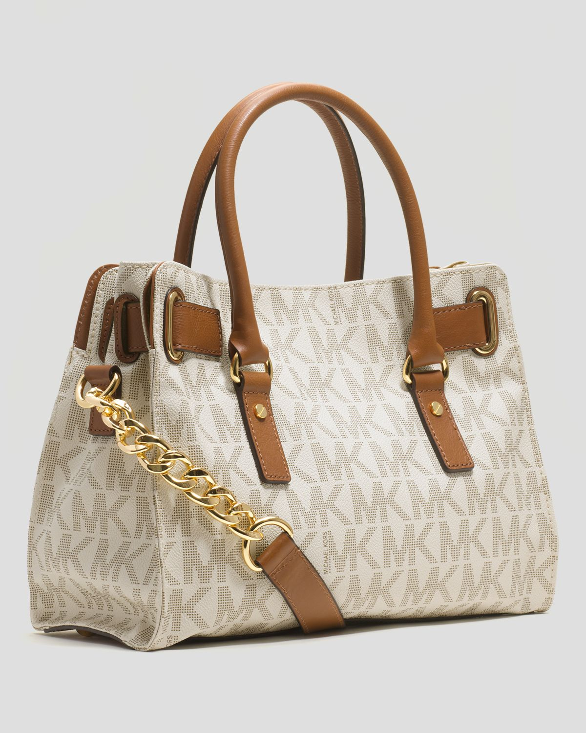 25e81e531223 ... where to buy lyst michael michael kors hamilton east west signature  logo 48d3c ab062