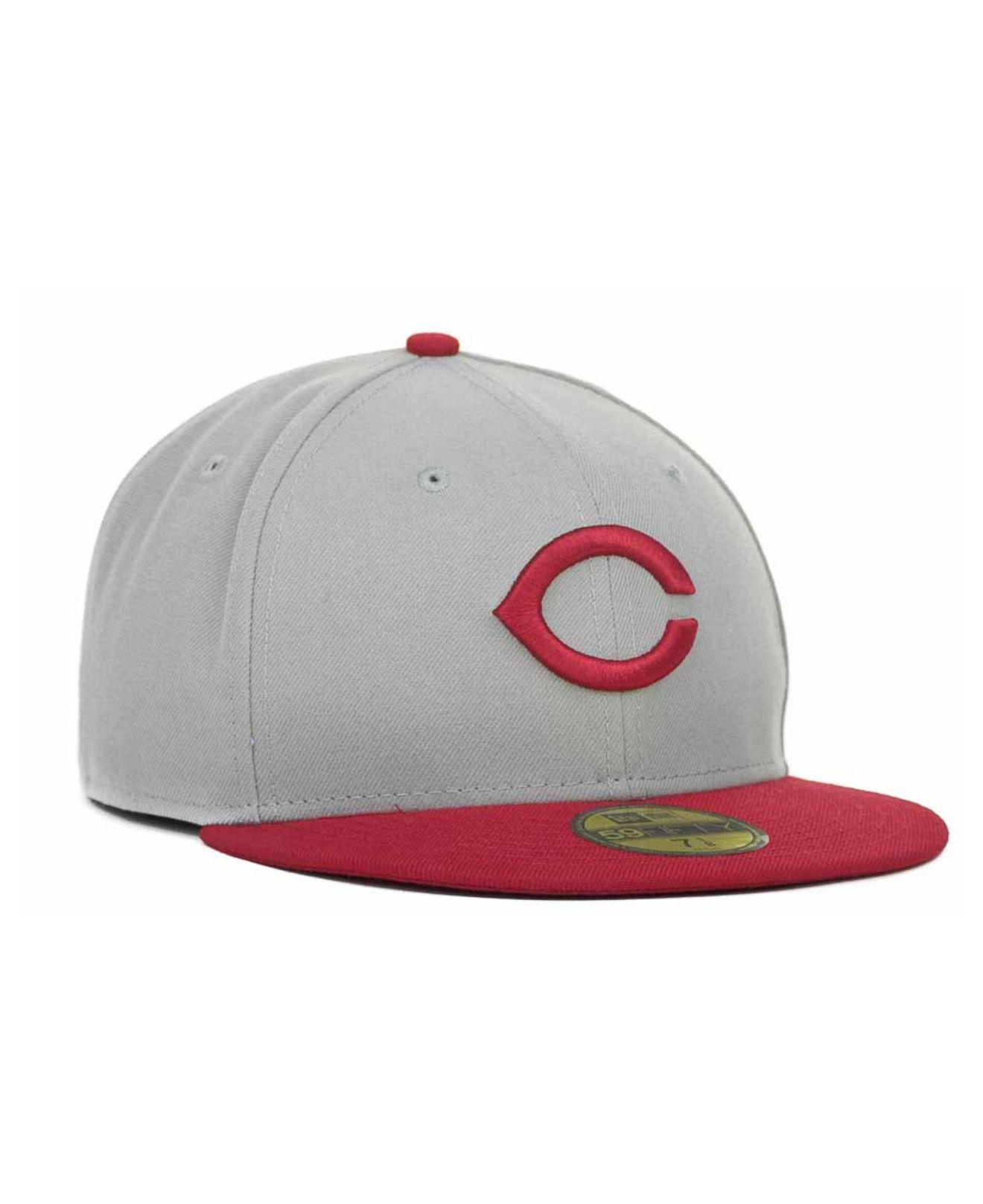 c8d14ce7272 Lyst - KTZ Cincinnati Reds Cooperstown 59fifty Cap in Gray for Men
