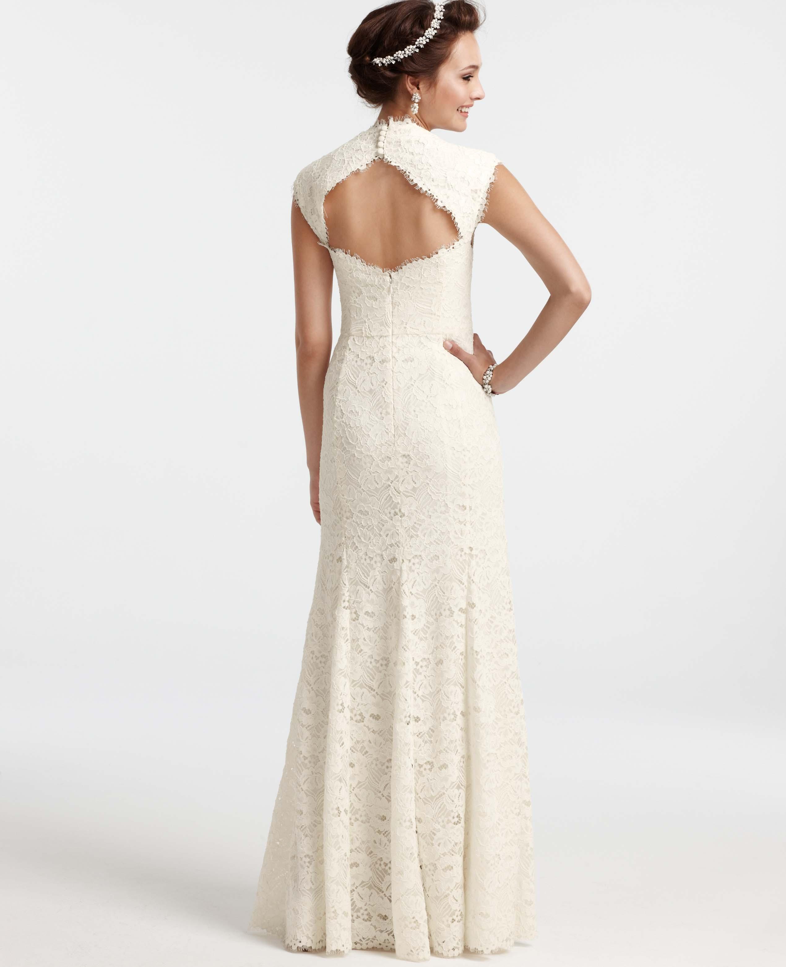 Wedding Ann Taylor Wedding Dresses ann taylor petite isabella lace wedding dress in white lyst gallery