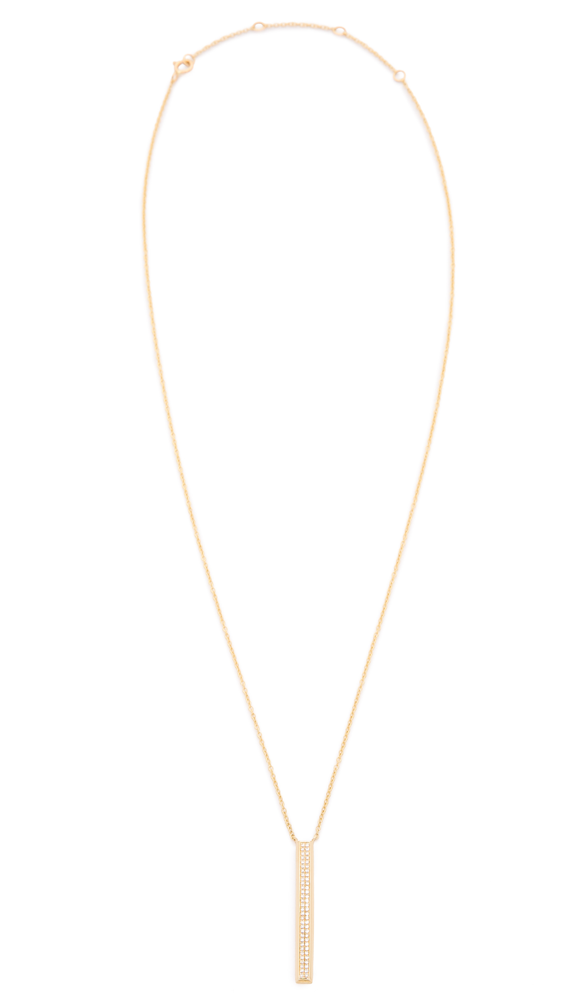 bar clear gold necklace jewelry diamond goldclear ef gallery vertical product in pendant normal collection lyst