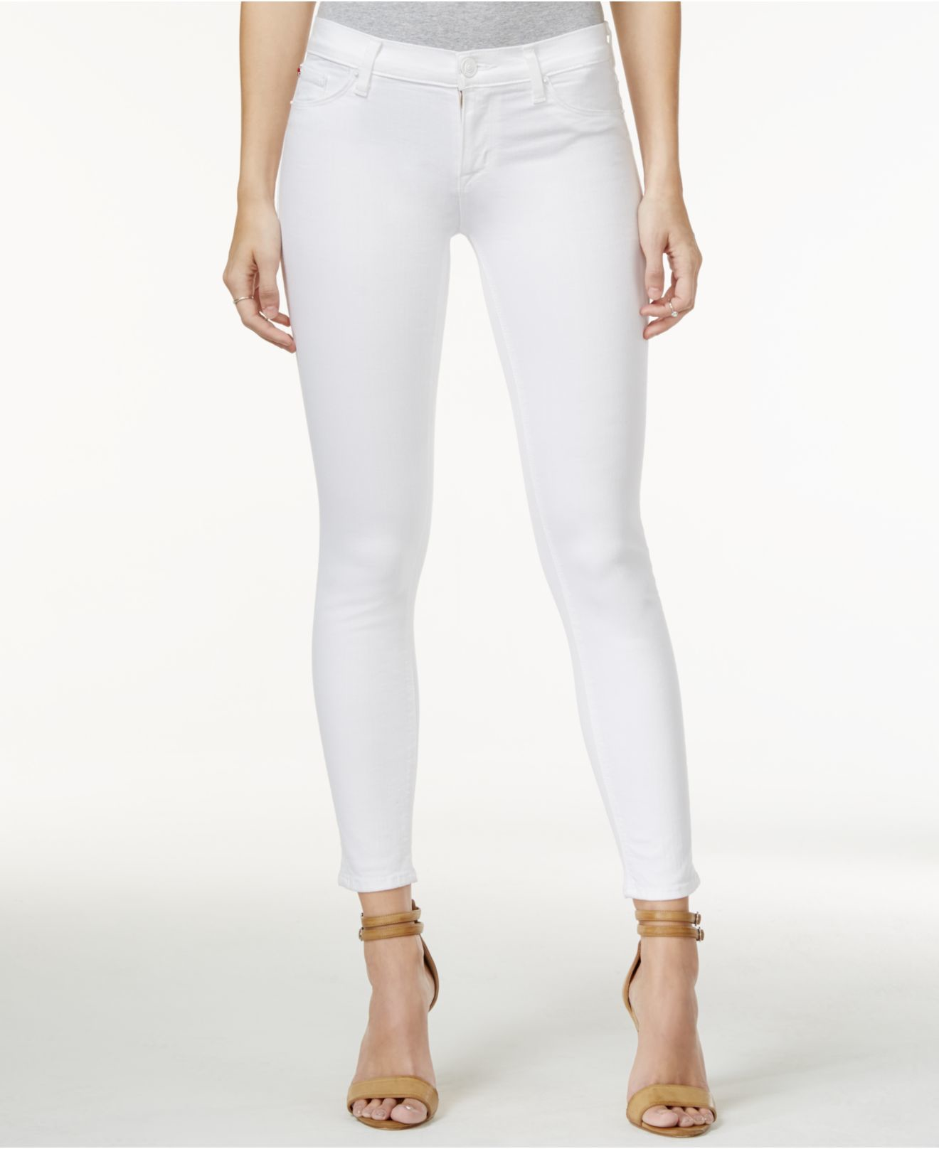 White Wash Skinny Jeans