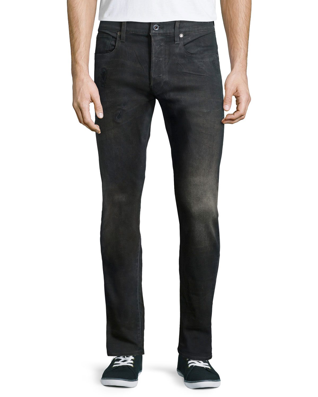 g star raw 3301 tapered slander jeans in gray for men lyst. Black Bedroom Furniture Sets. Home Design Ideas