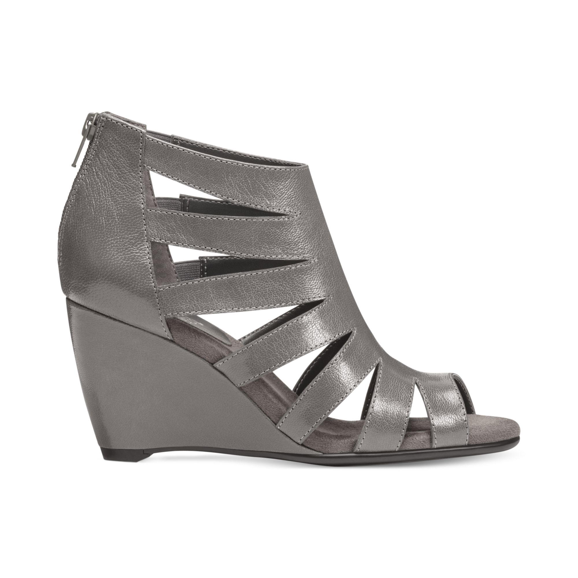 Aerosoles Southern Lights Wedge Sandals in Gray | Lyst