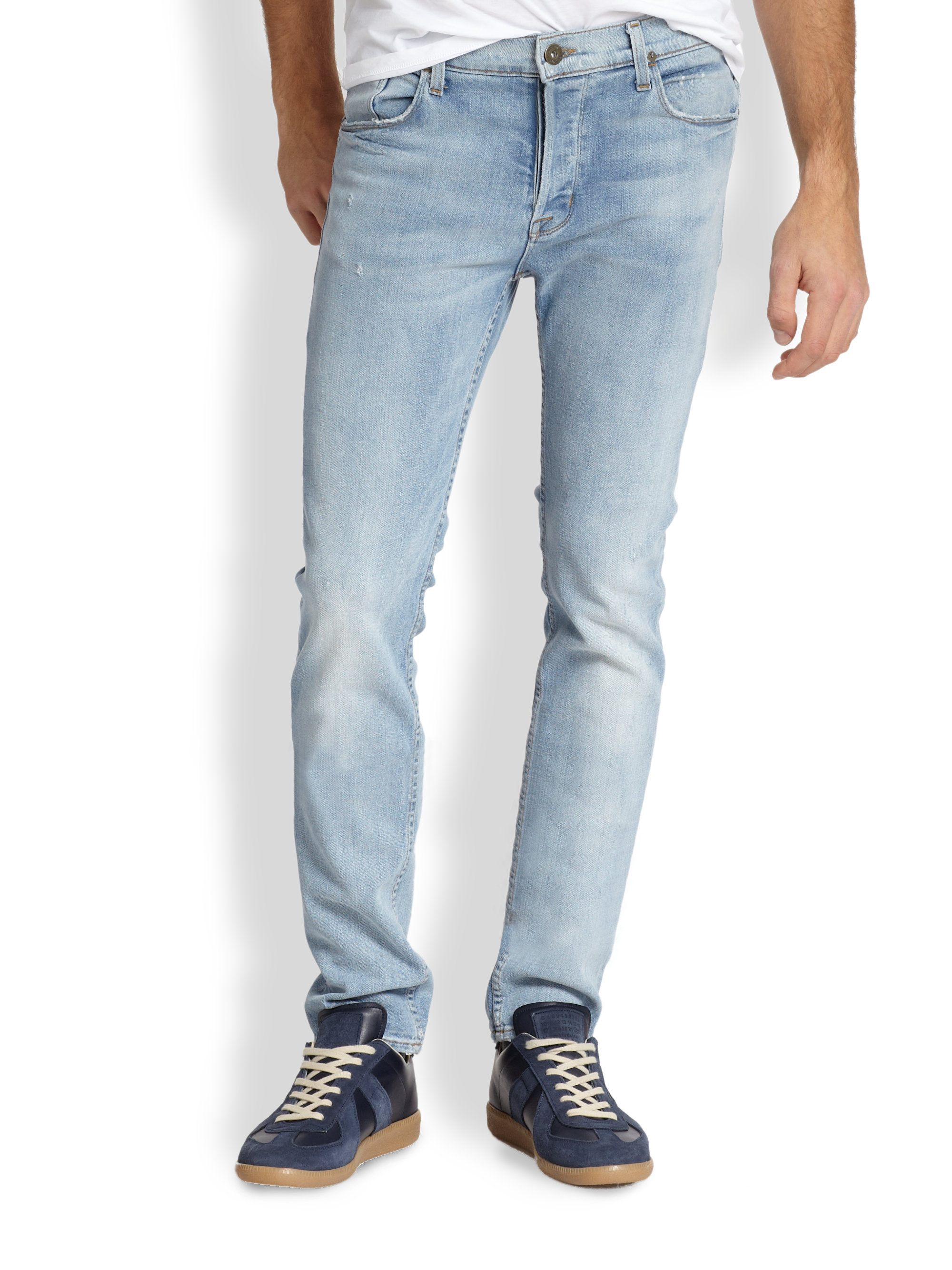 Hudson jeans Sartor Slouchy Skinny Jeans in Blue for Men | Lyst