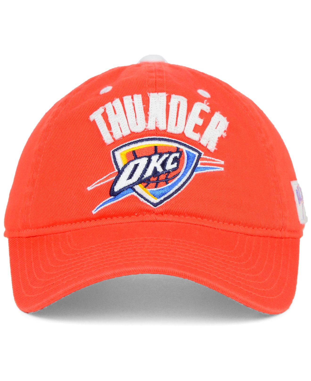 e2493a76ea3 Lyst - adidas Oklahoma City Thunder Tag Slouch Cap in Orange for Men